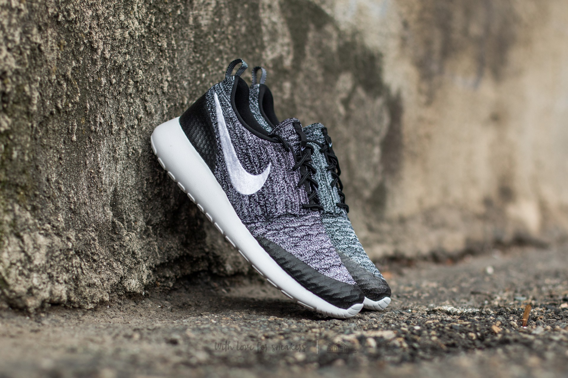Nike Wmns Roshe One Flyknit Black/ White-Cool Grey Footshop – FR