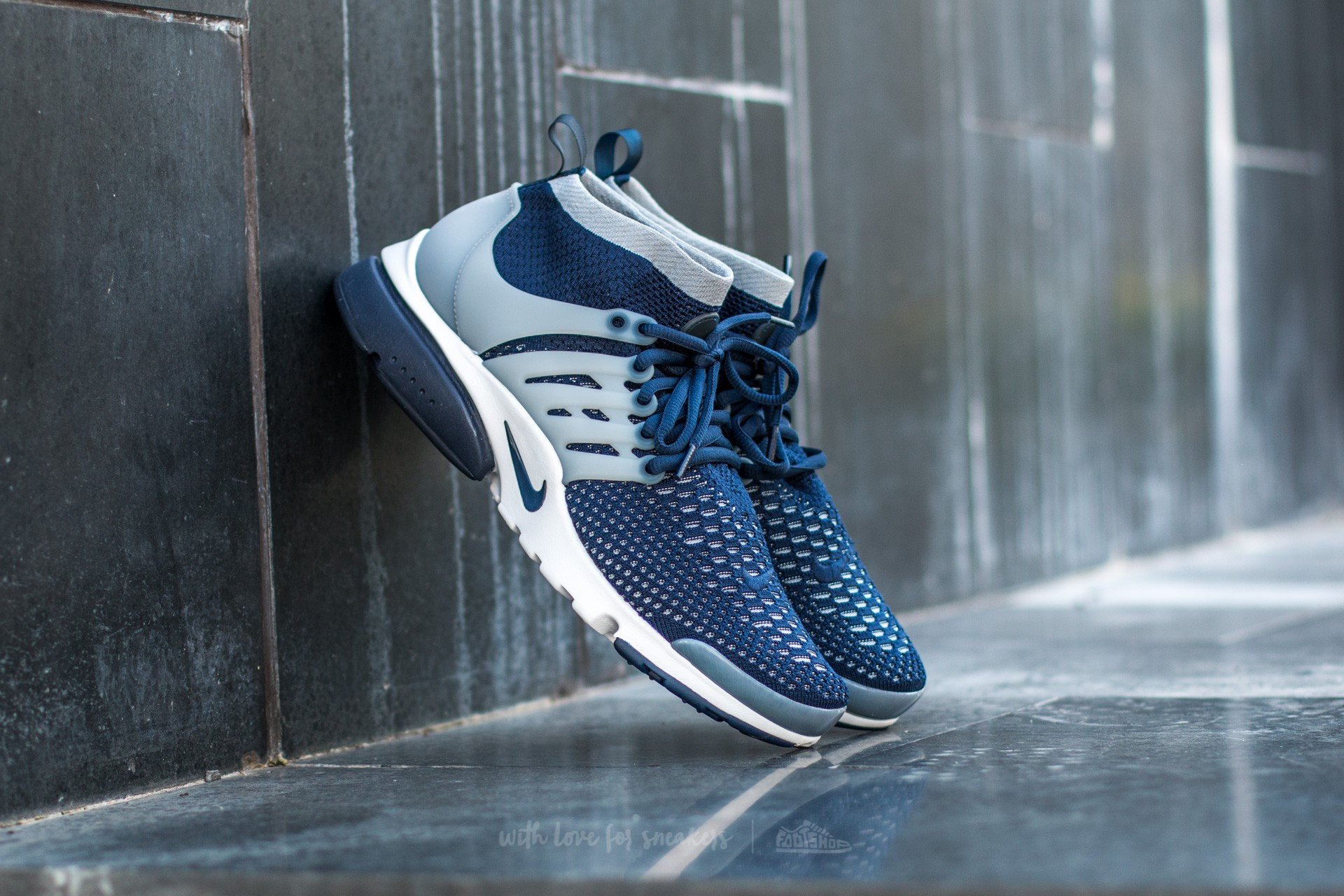 Nike Air Presto Flyknit Ultra College Navy/ College Navy-Wolf Grey-White