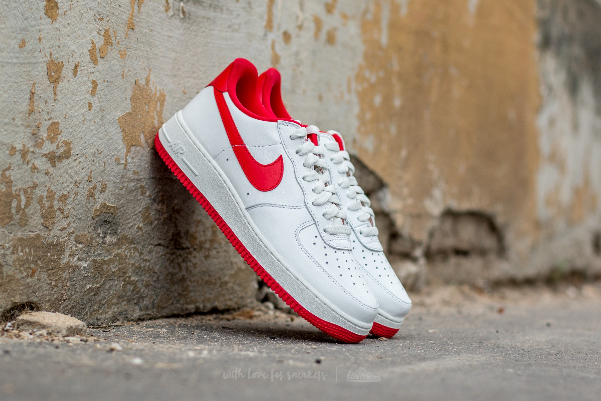 Nike Air Force 1 Low Retro Summit White/ University Red Footshop – FR