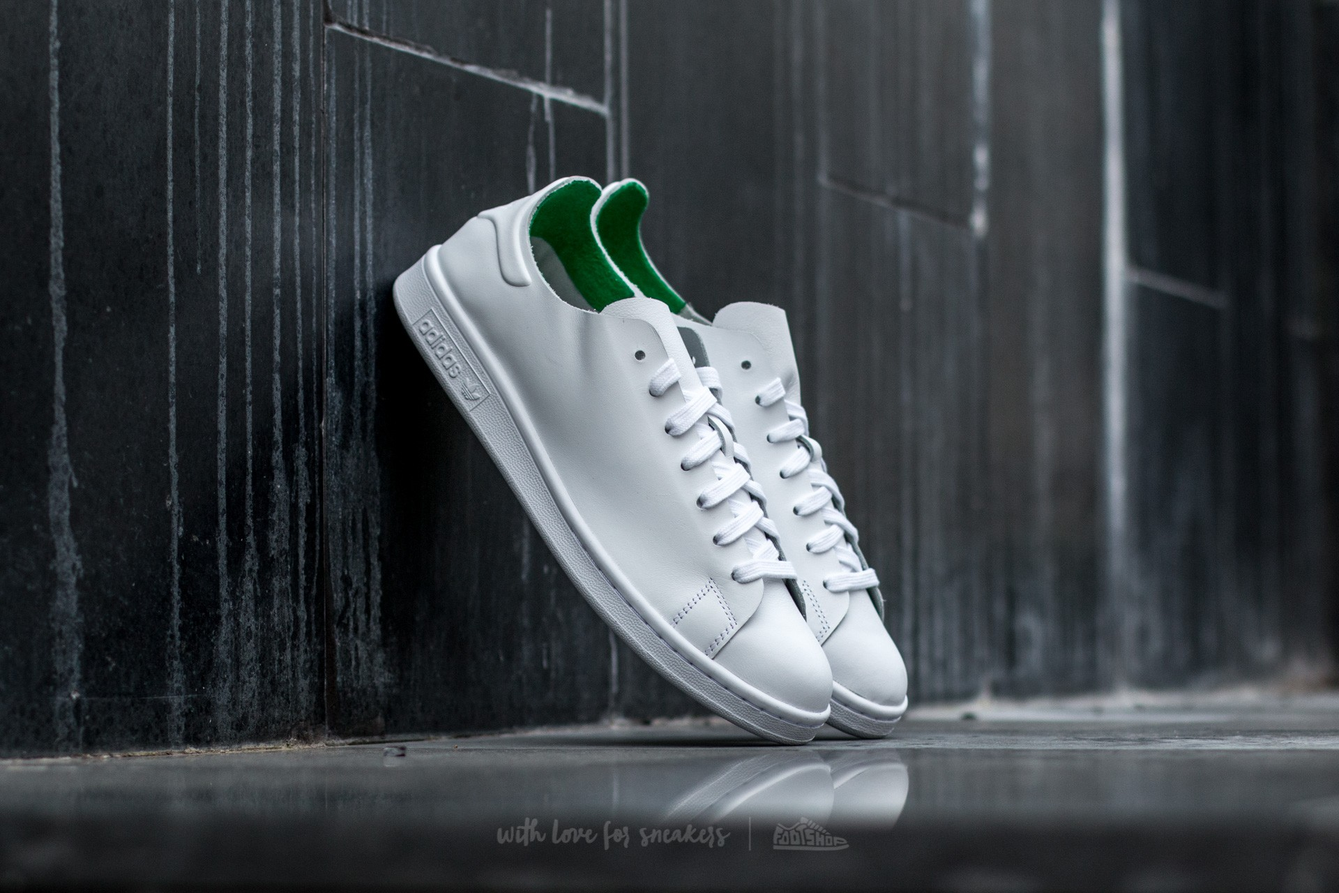 adidas Stan Smith Nuude W Ftw White/ Ftw White/ Green Footshop – FR