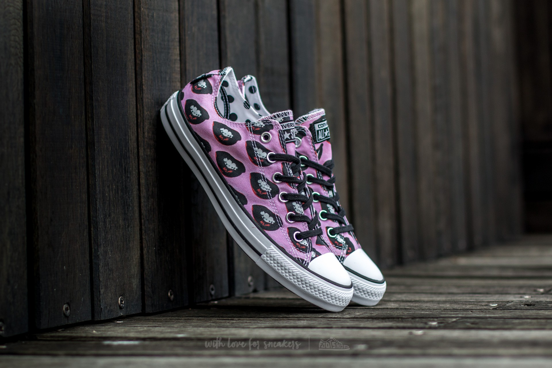 Converse Chuck Taylor All Star OX Andy Warhol White/ Black/ Multipink Footshop – FR