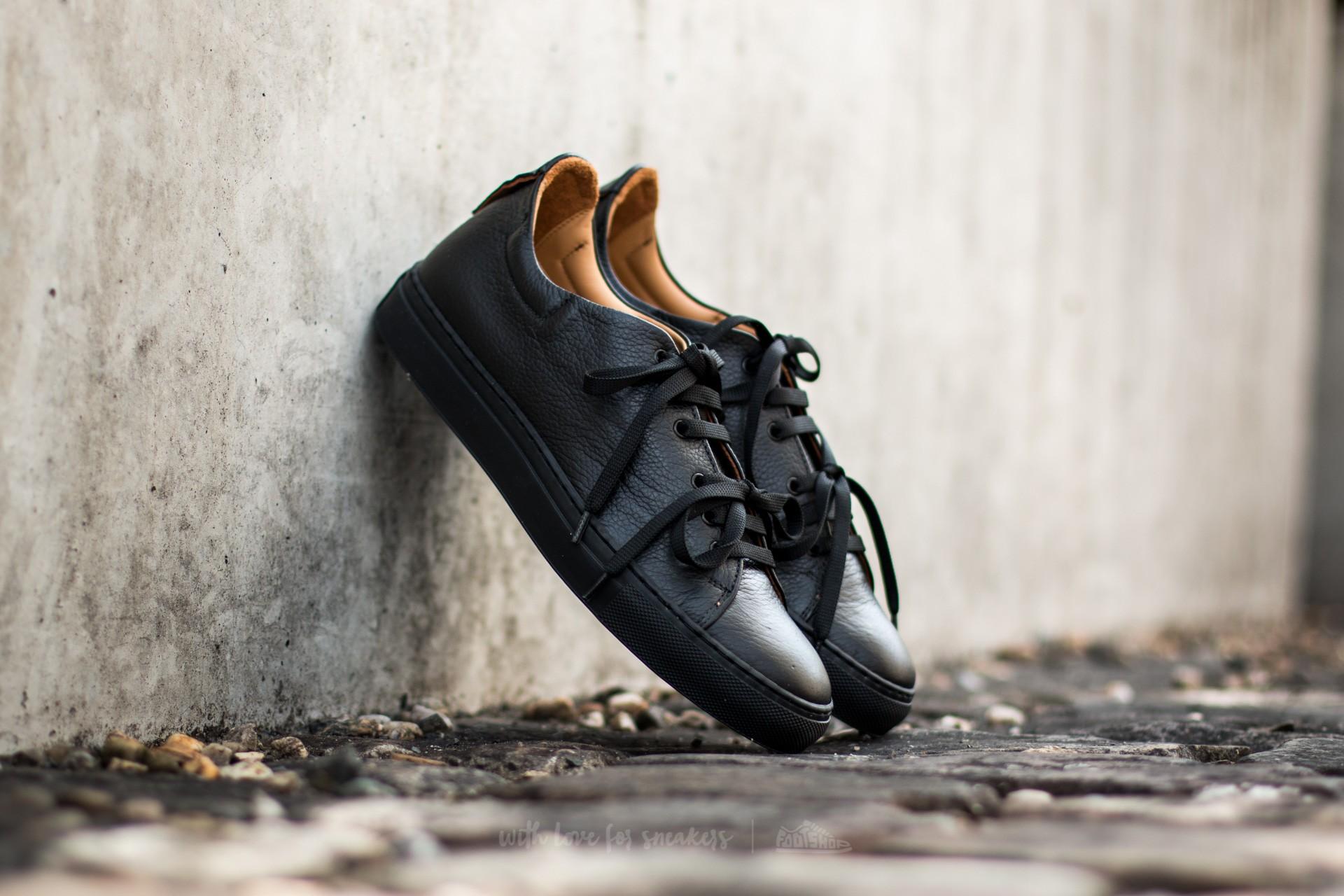 Marco Laganà Sneaker Leather Black-Black Sole