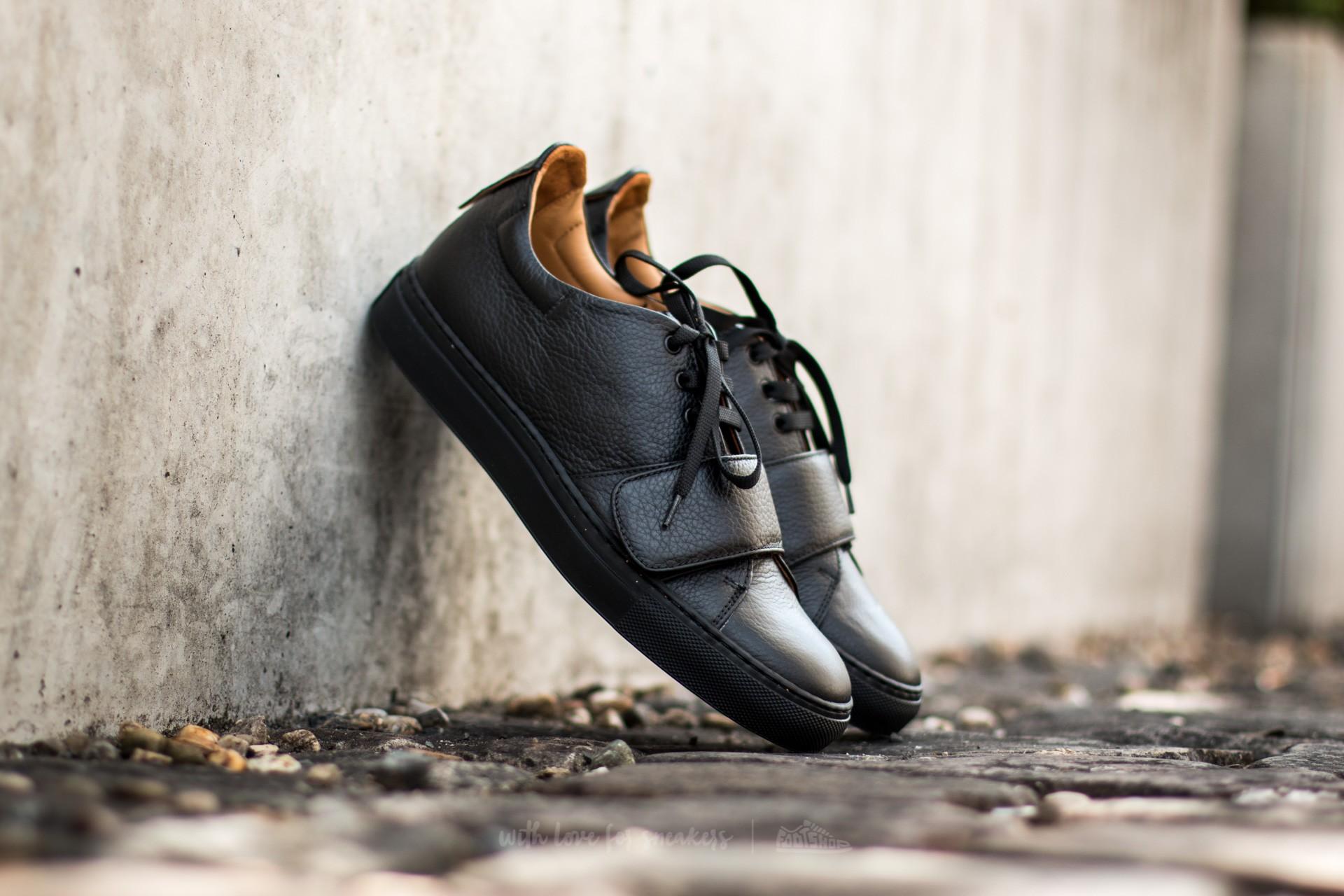 Marco Laganà Sneaker Strap Black Leather - Black Sole