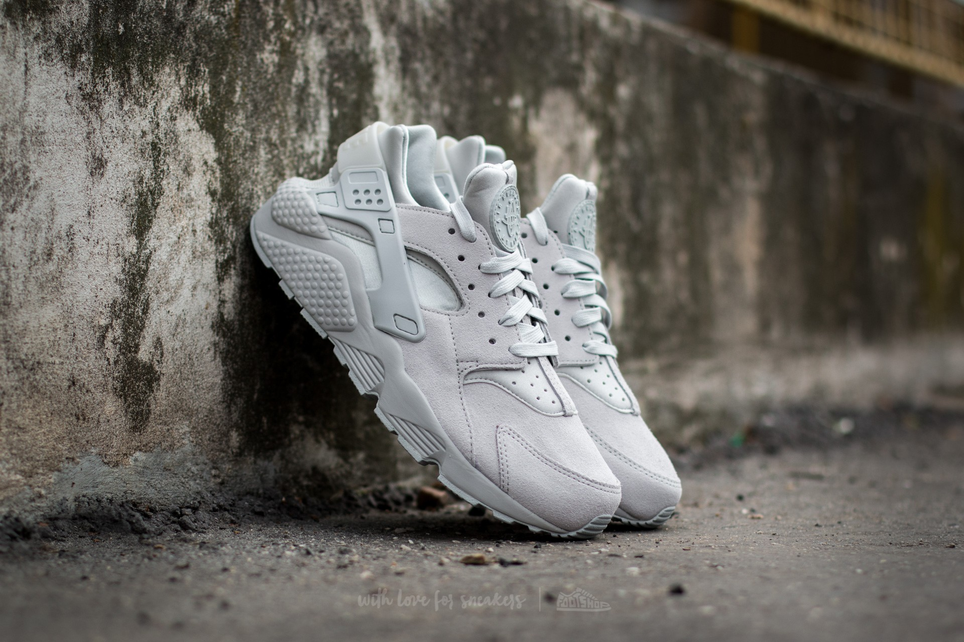 Nike Air Huarache Run Premium Neutral Grey/ Neutral Grey