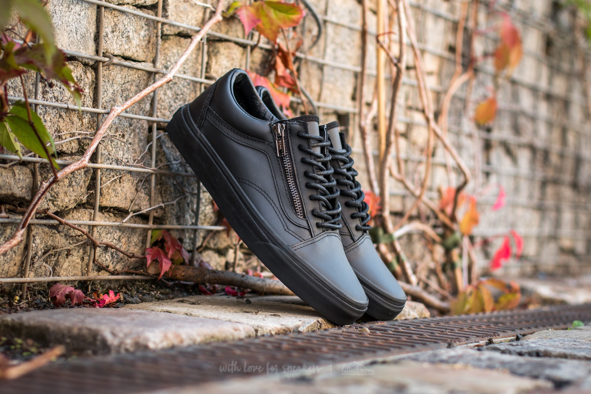 Vans Old Skool Zip (Gunmetal) Black/ Black Footshop – FR
