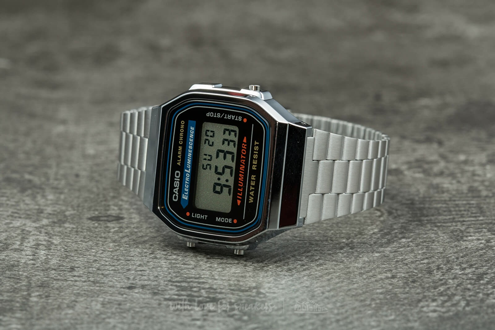 Casio A168WA-1YES Silver Footshop – FR