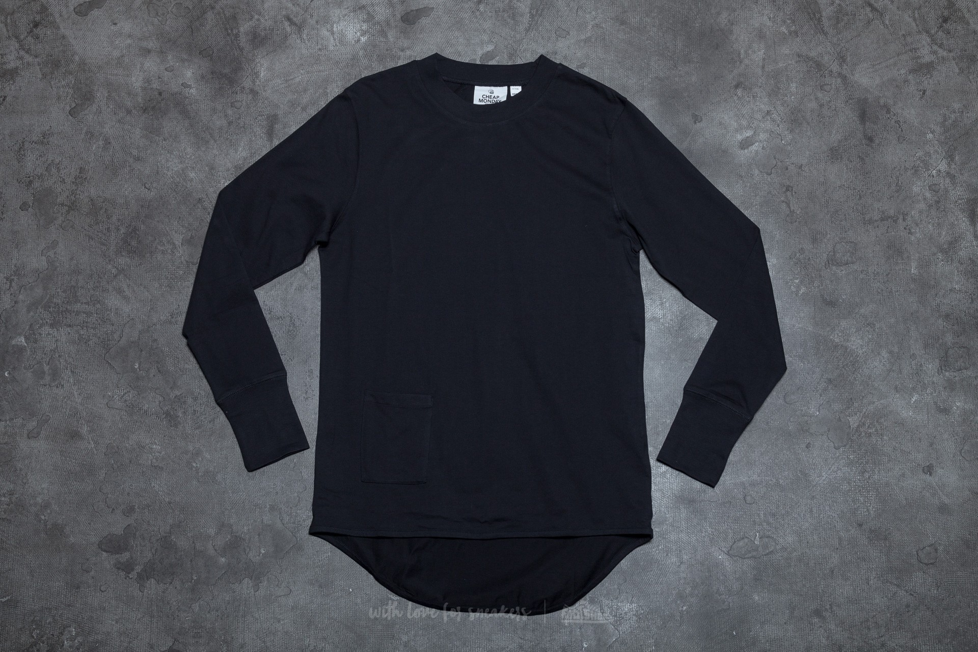 Cheap Monday Curb Long Sleeve Tee Black