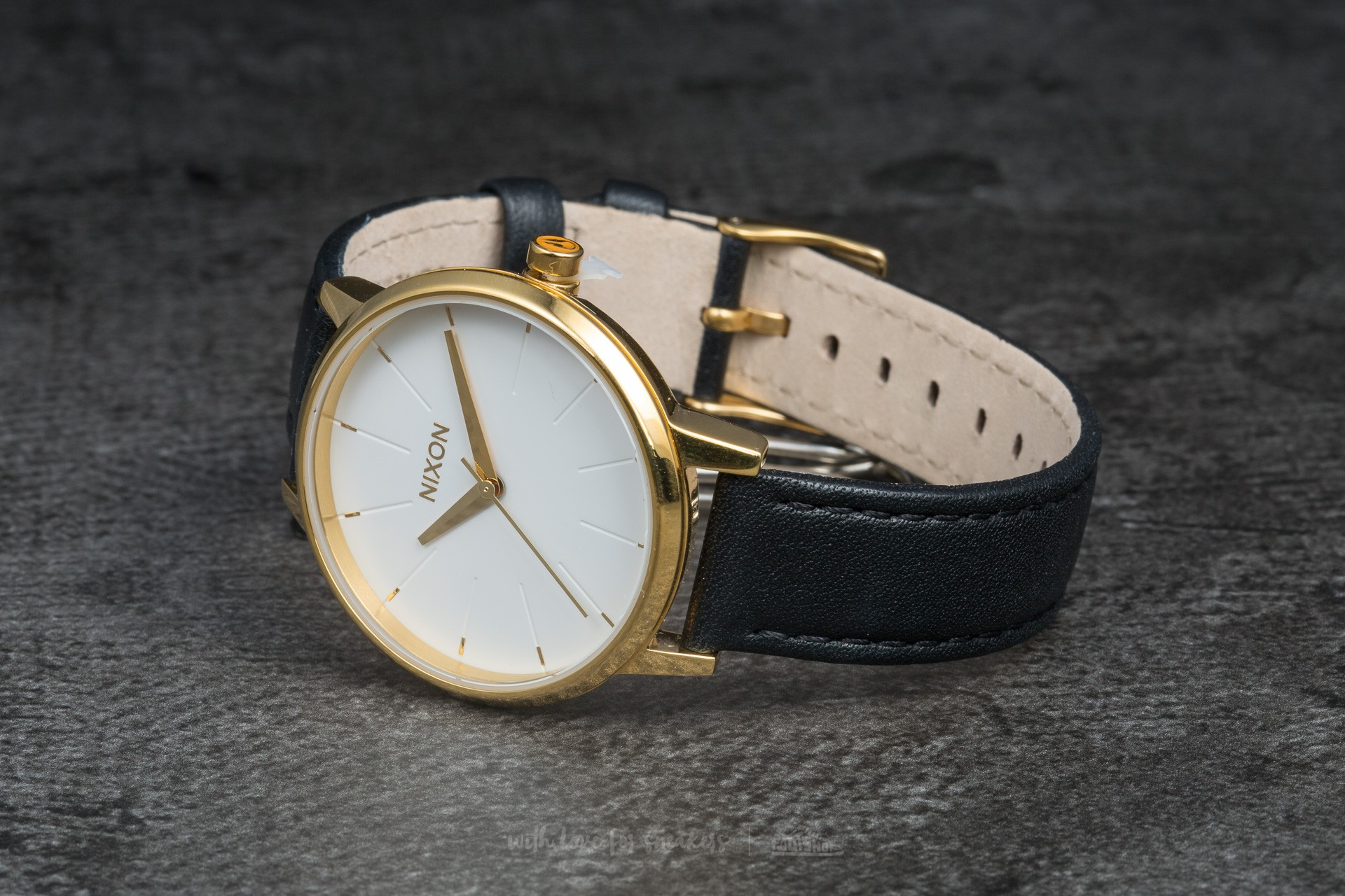 Nixon Kensington Leather Gold/ White/ Black Footshop – FR