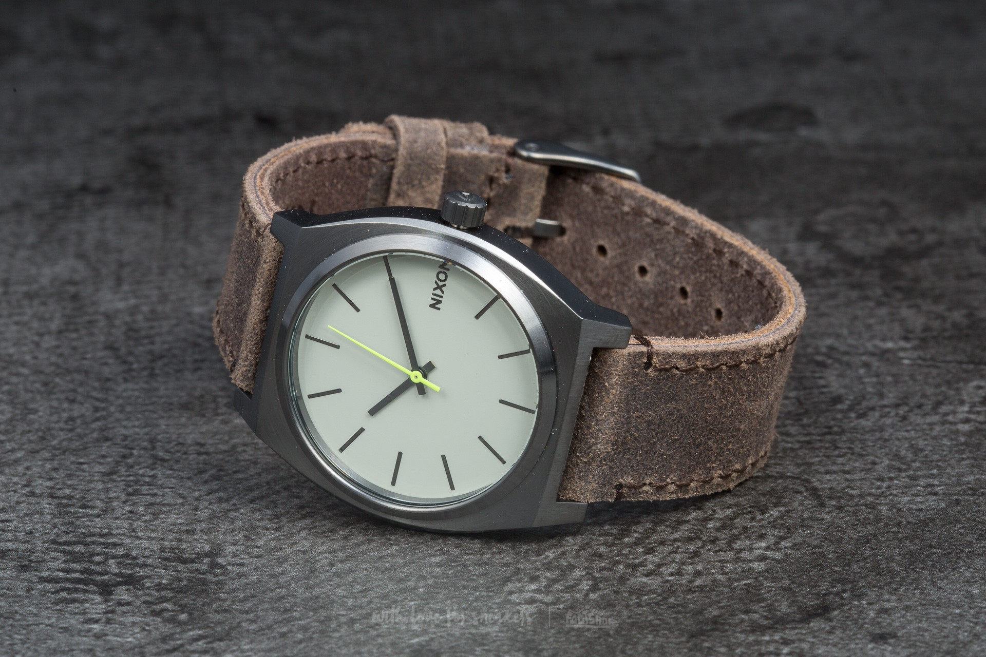 Nixon Time Teller Gunmetal/Brown Footshop – FR