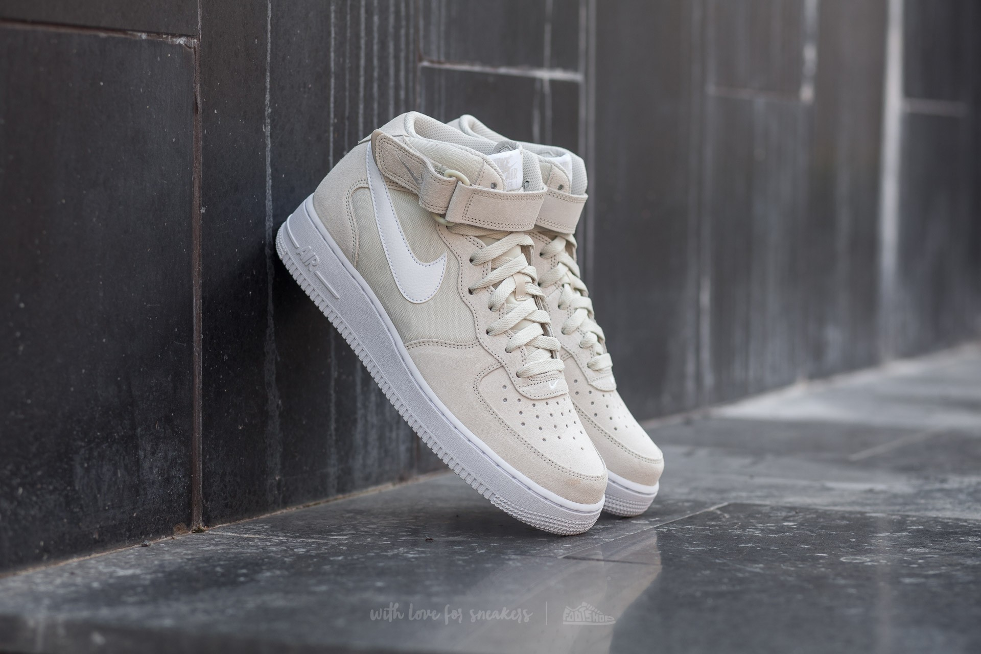 Nike Air Force 1 Mid ´07 Light Bone/ White-White Footshop – FR