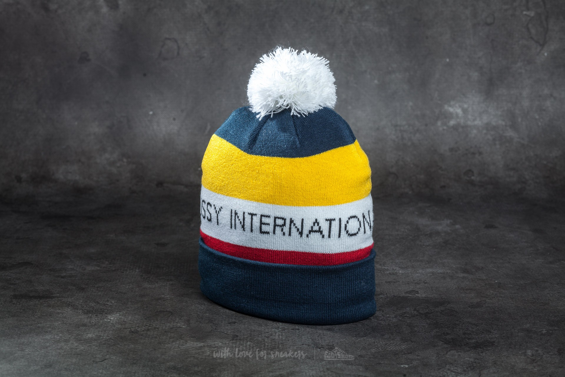 Stüssy International Pom Beanie Navy Footshop – FR