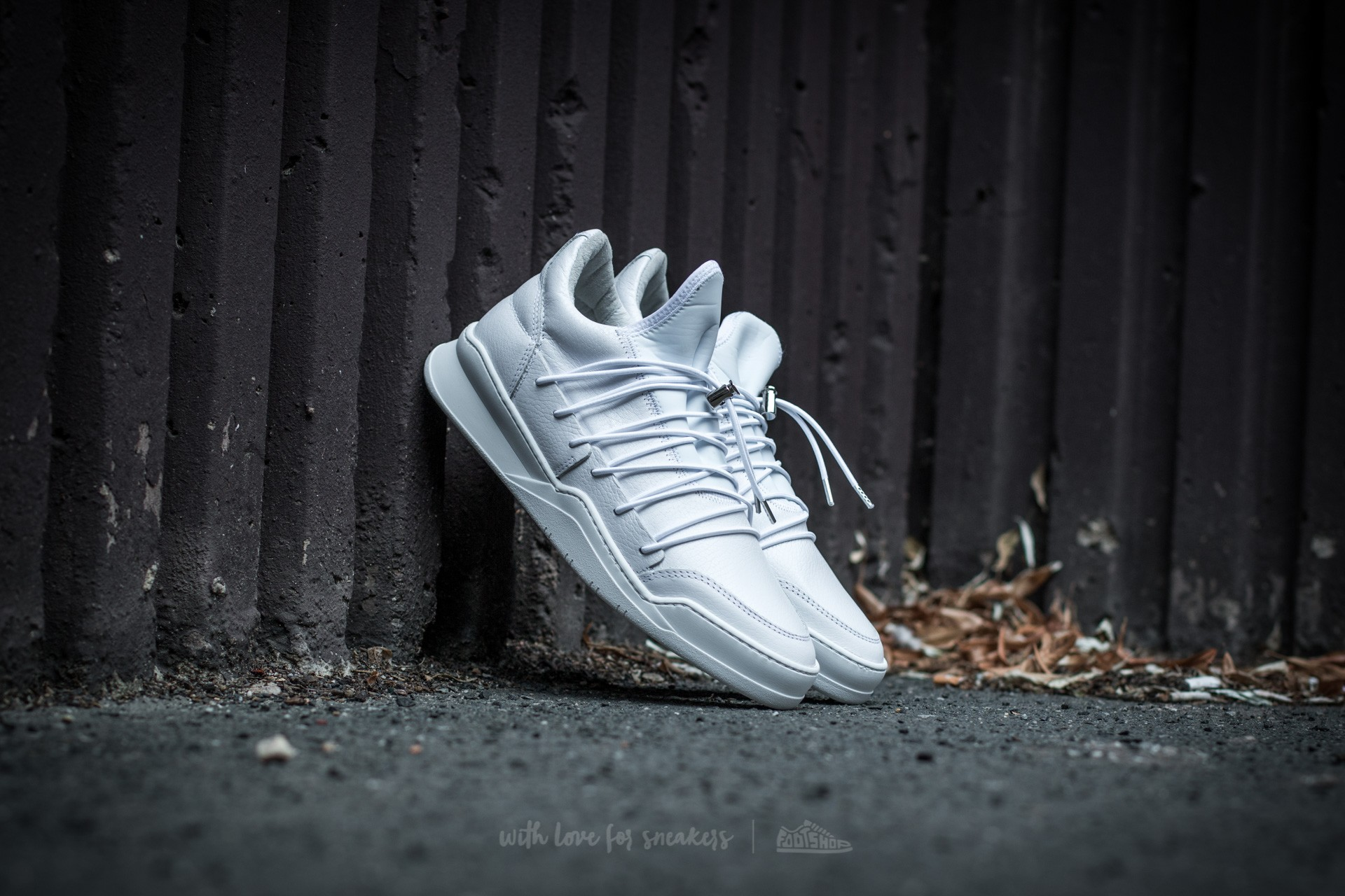 Filling Pieces Low Top Lee White