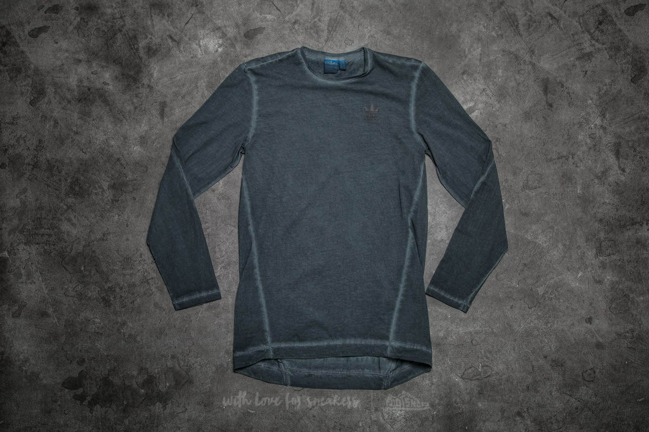 adidas Street Modern Long Sleeve Tee Dyed Solid Grey