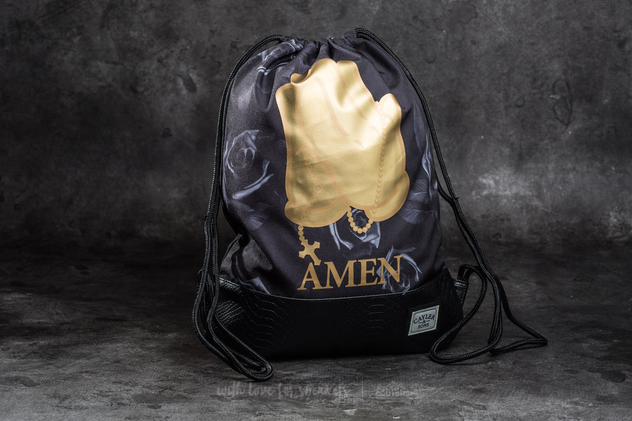 Cayler & Sons WL Amen Gymbag Black/ Gold Footshop – FR