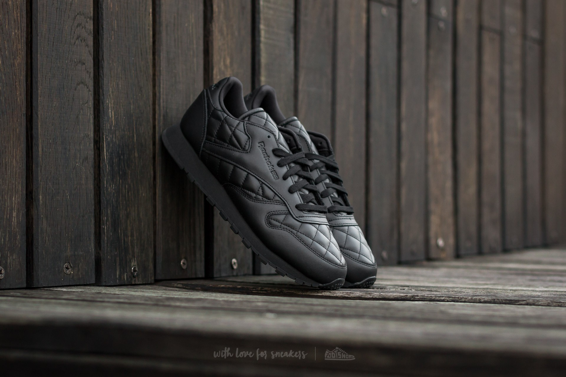 Reebok Classic Leather Quilted Black/ White Footshop – FR