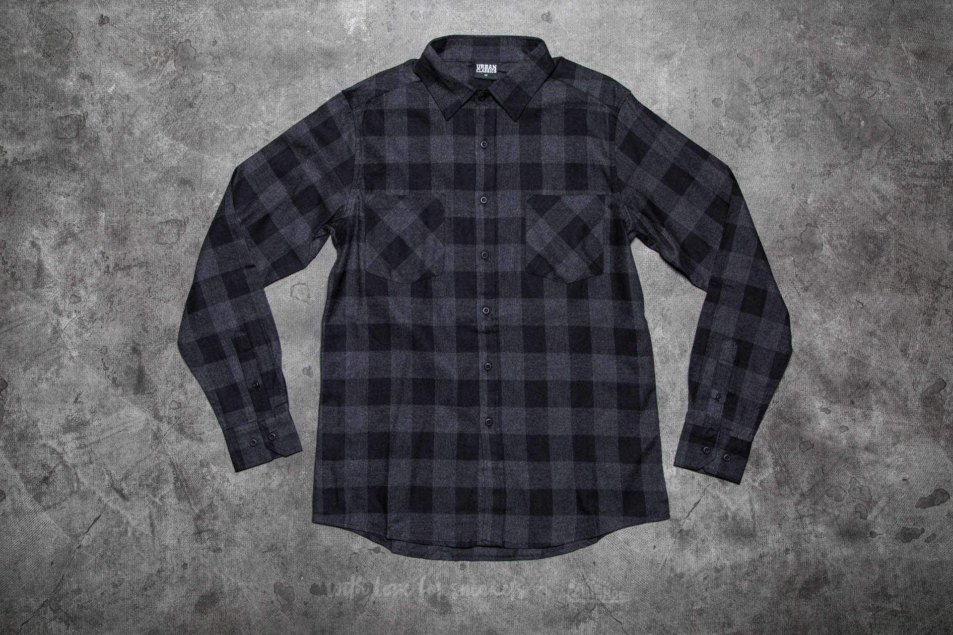 Urban Classics Checked Flanell Shirt Black/ Charcoal Footshop – FR