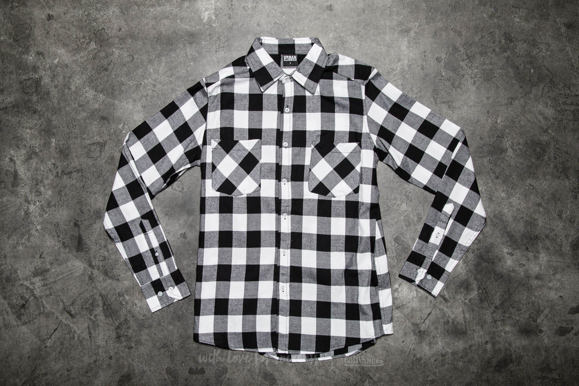 Urban Classics Checked Flanell Shirt Black/ White