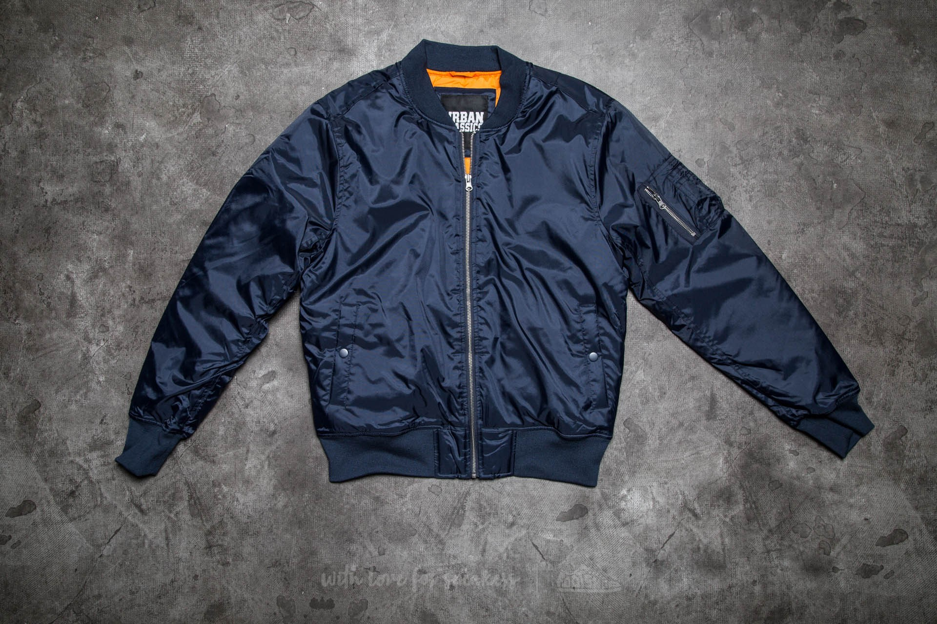 Urban Classics Basic Bomber Jacket Navy Footshop – FR
