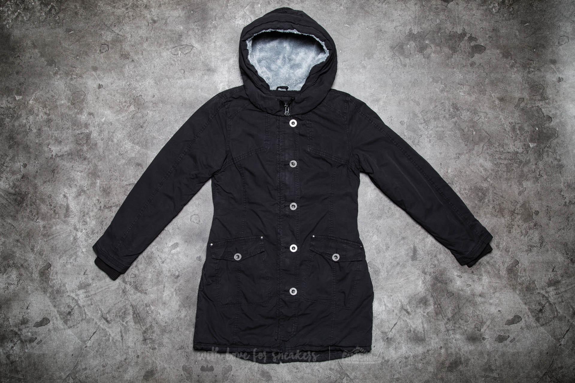Urban Classics Ladies Garment Washed Long Parka Black