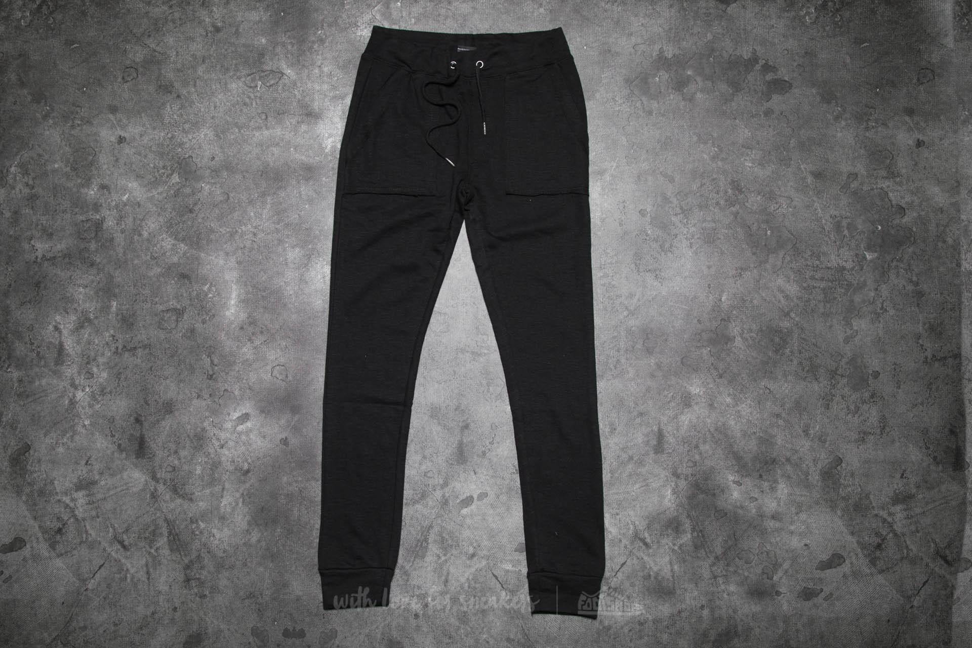 Urban Classics Ladies Fitted Slub Terry Pants Black