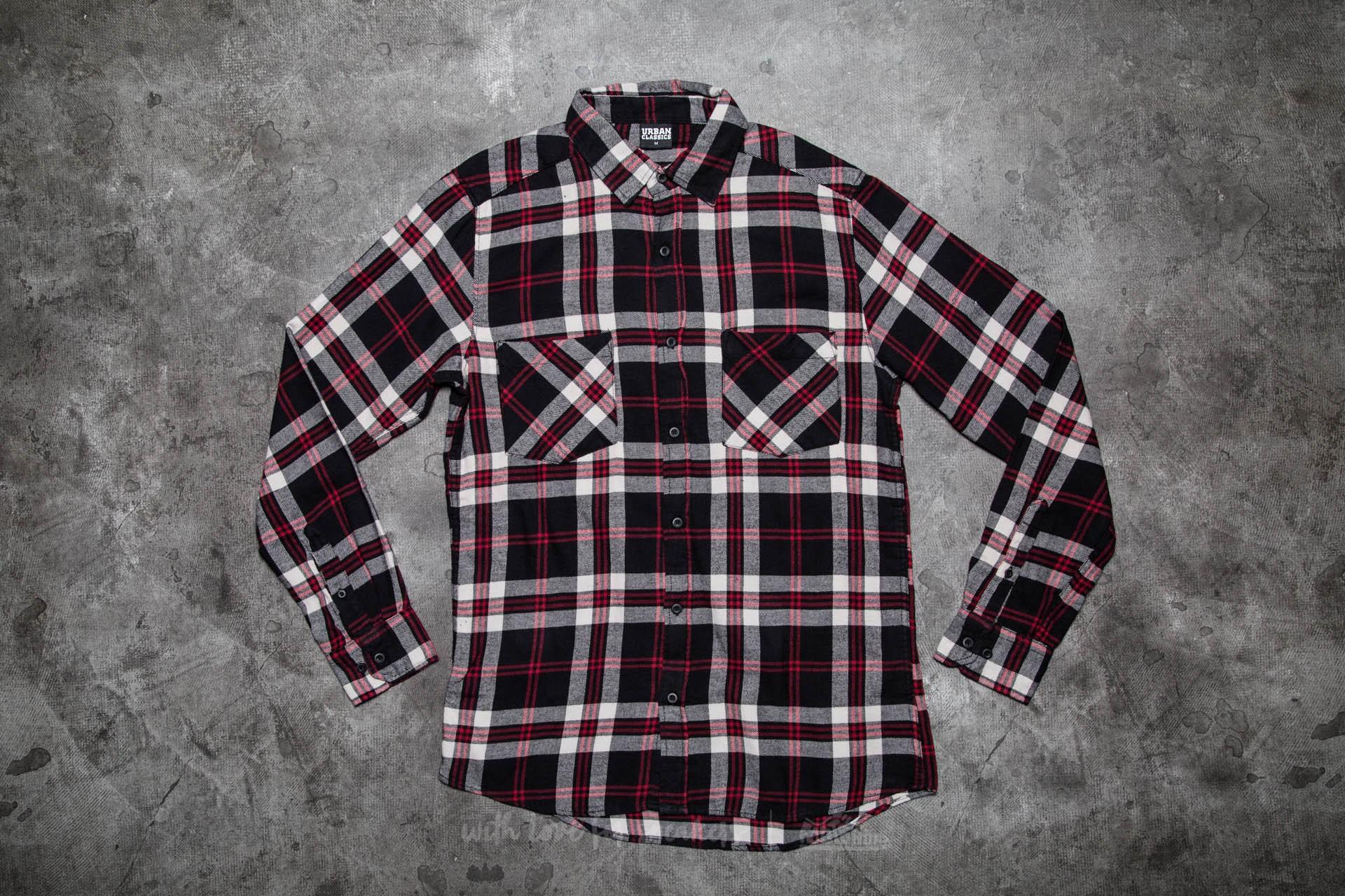 Urban Classics Checked Flanell Shirt 3 Black/ White/ Red