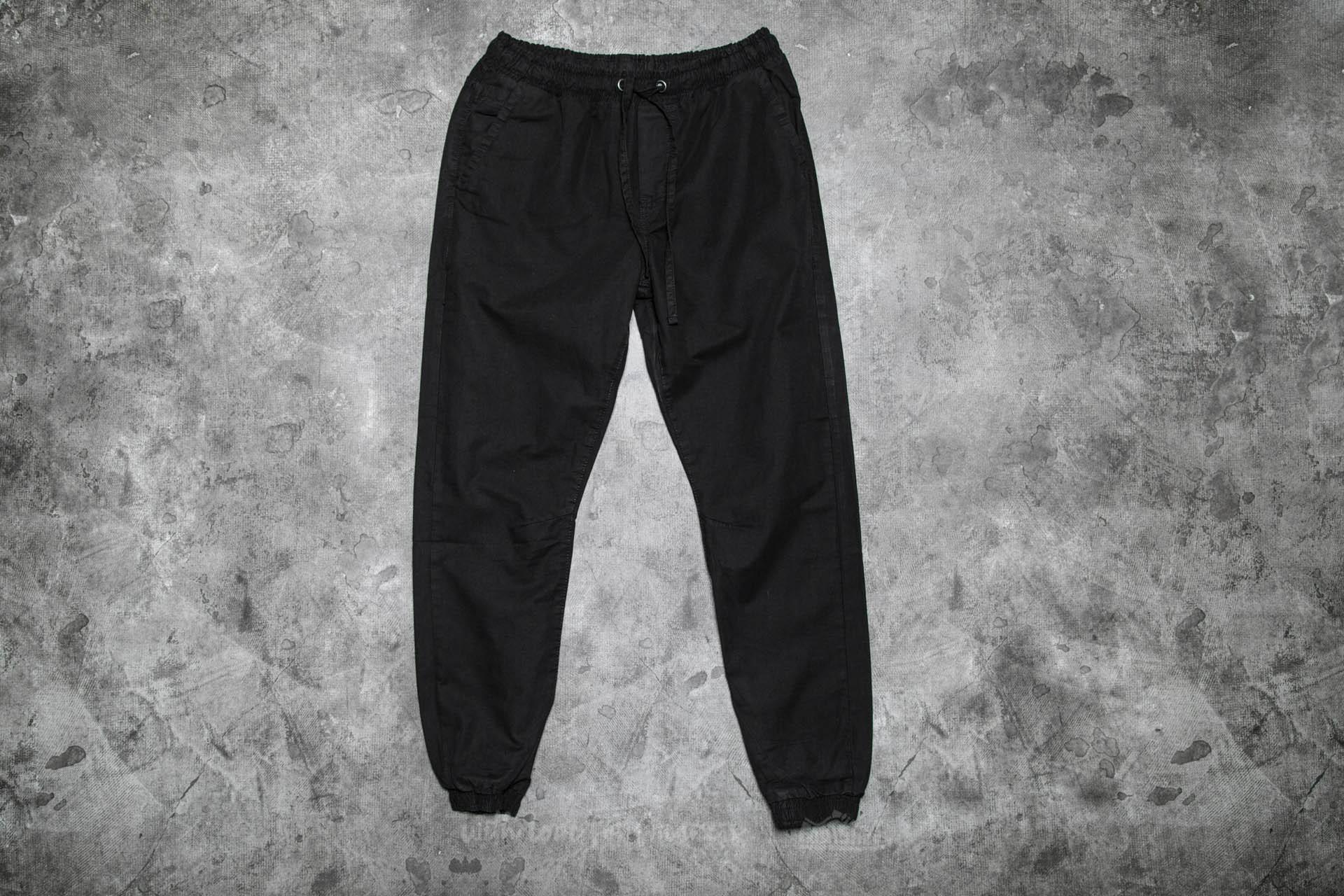 Urban Classics Washed Canvas Jogging Pants Black