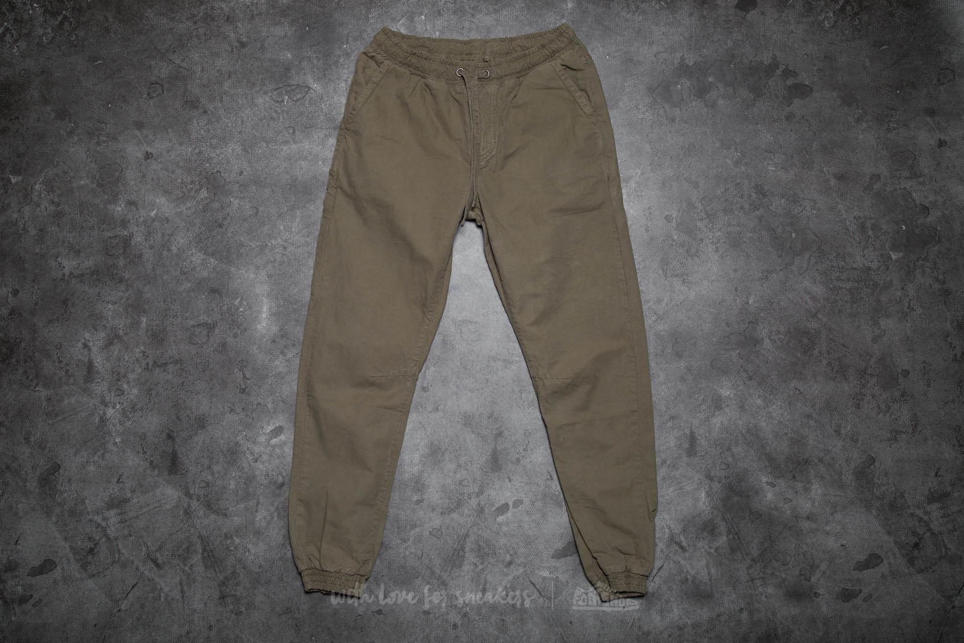 Urban Classics Washed Canvas Jogging Pants Olive