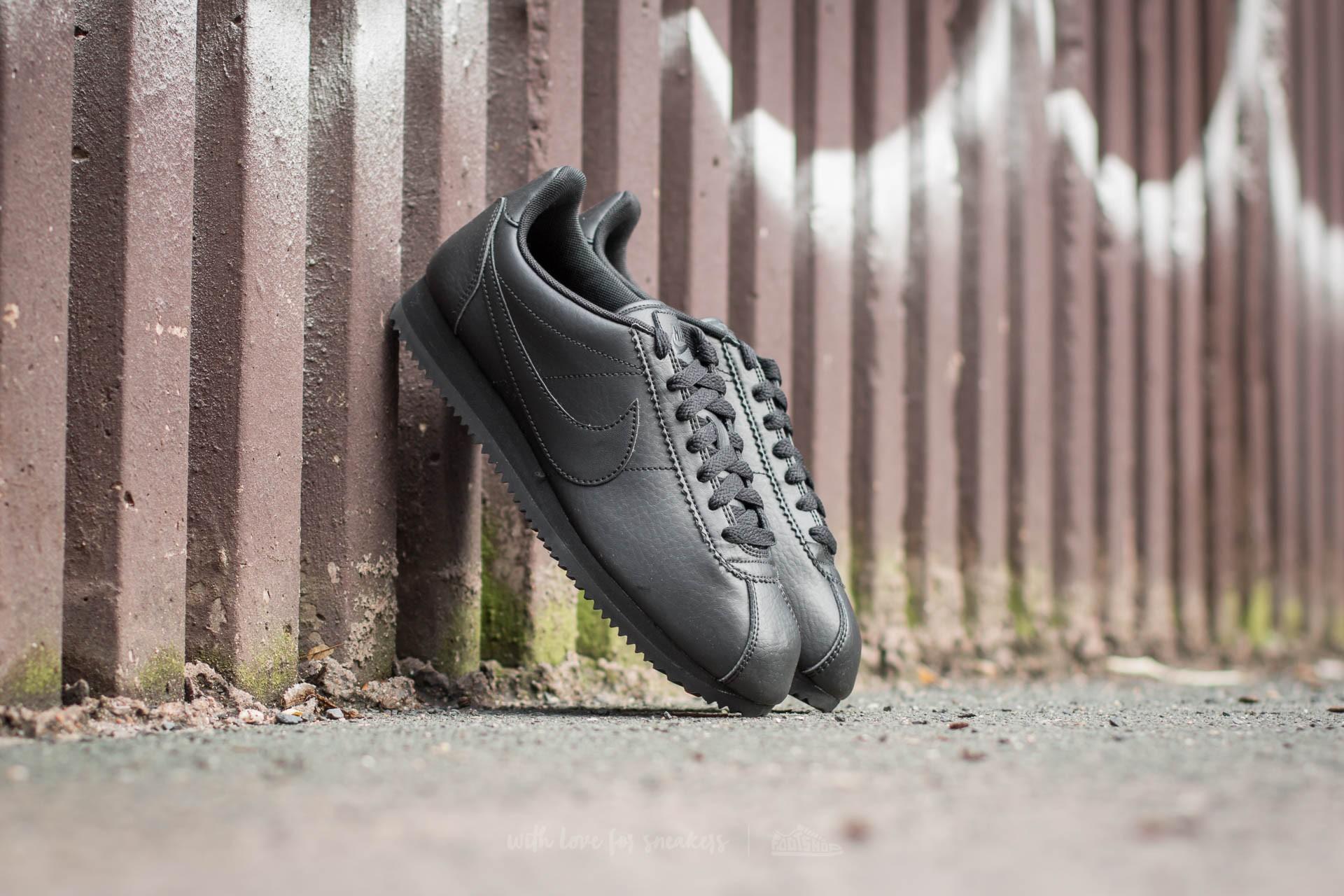 Nike Wmns Classic Cortez STR LTR Black/ Black-Noir
