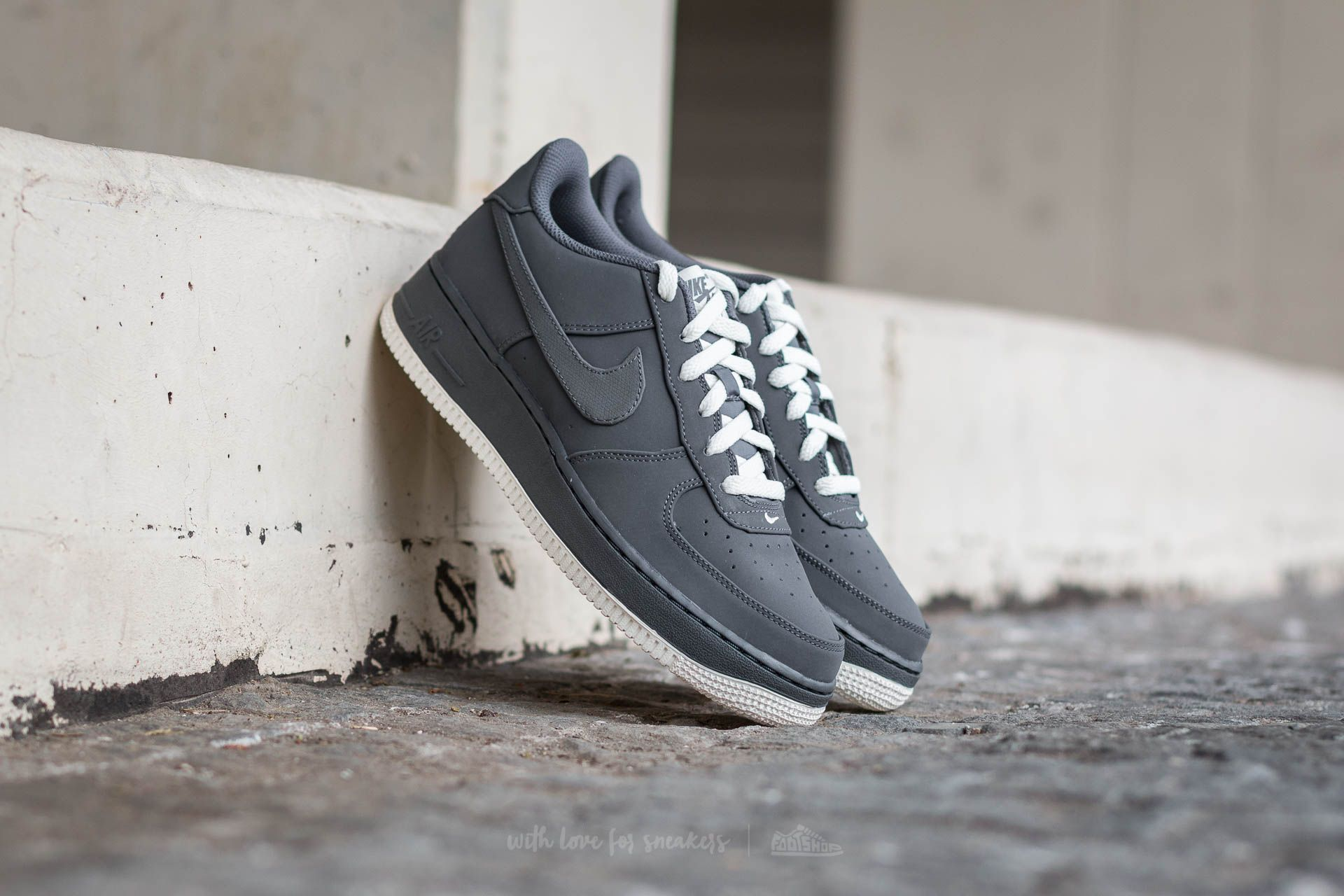 Nike Air Force 1 (GS) Dark Grey/ Dark Grey-Sail Footshop – FR