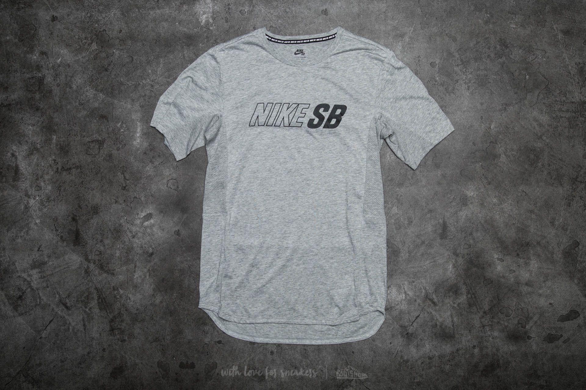 Nike Skyline Dri-Fit Cool GFX Short Sleeve Tee Heather Grey/ Black