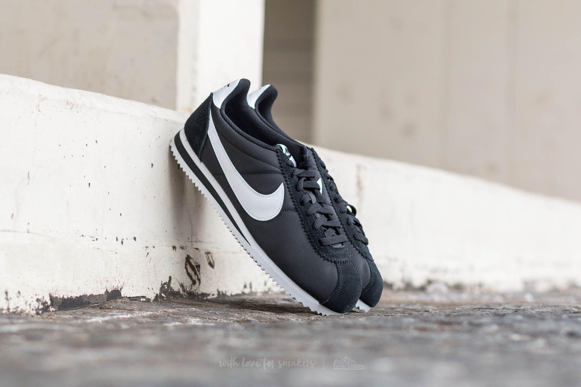 Nike Classic Cortez Nylon Black/ White Footshop – FR
