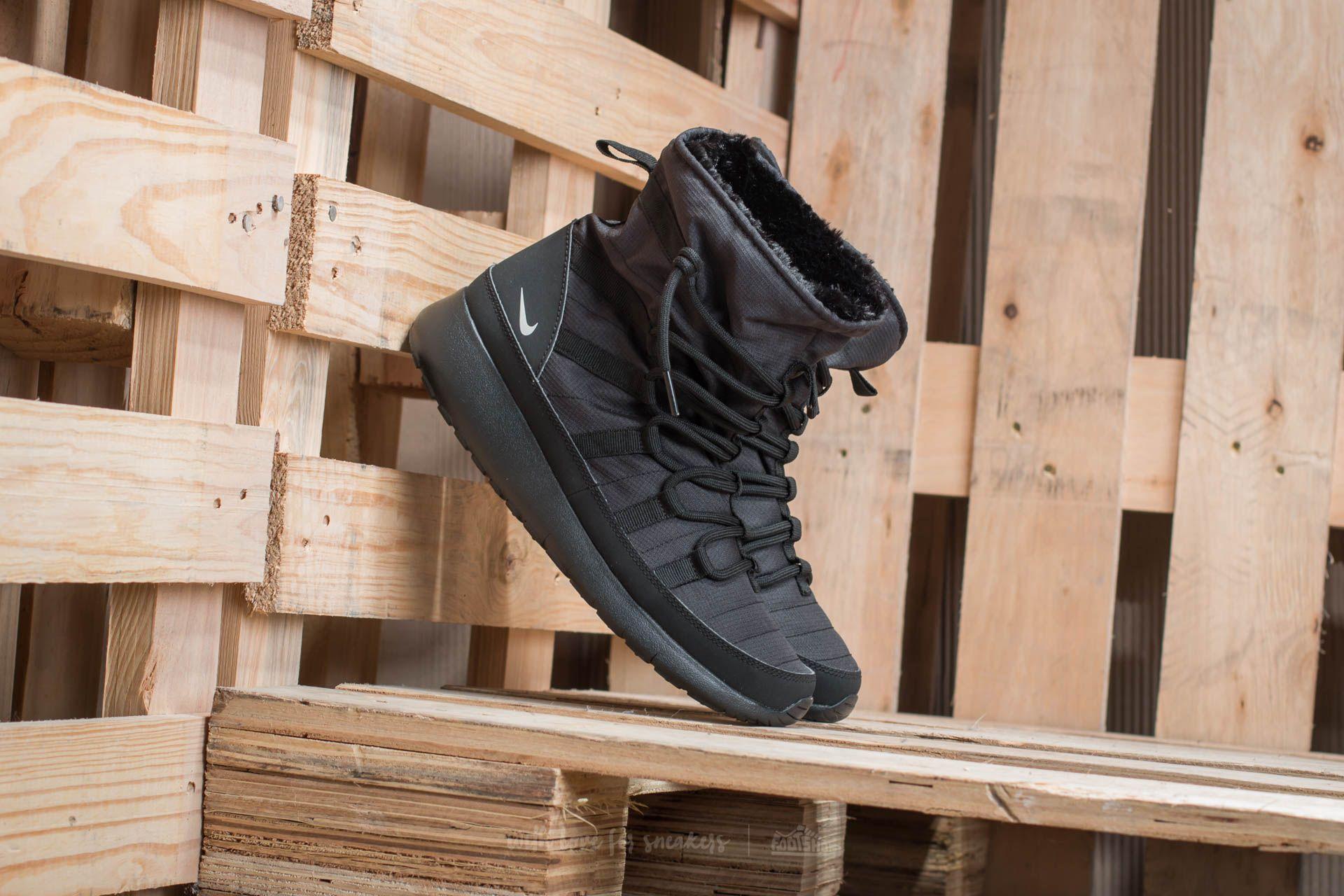 Nike Roshe One Hi (GS) Black/ Metallic Silver