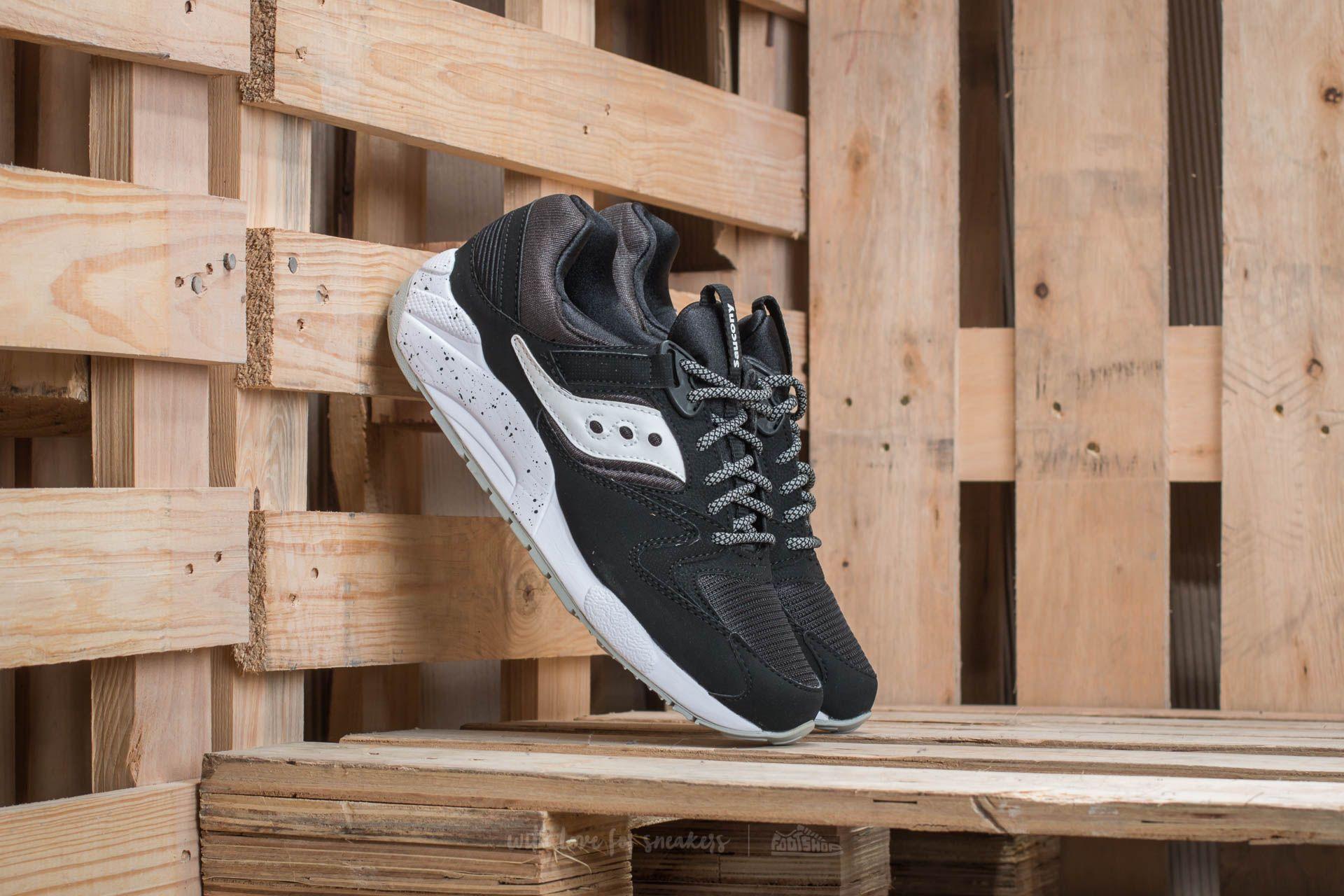 Saucony Grid 9000 Black/ White Footshop – FR