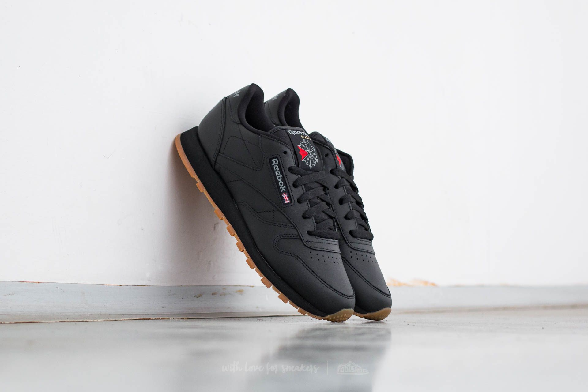 Reebok Classic Leather Black/ Gum Footshop – FR