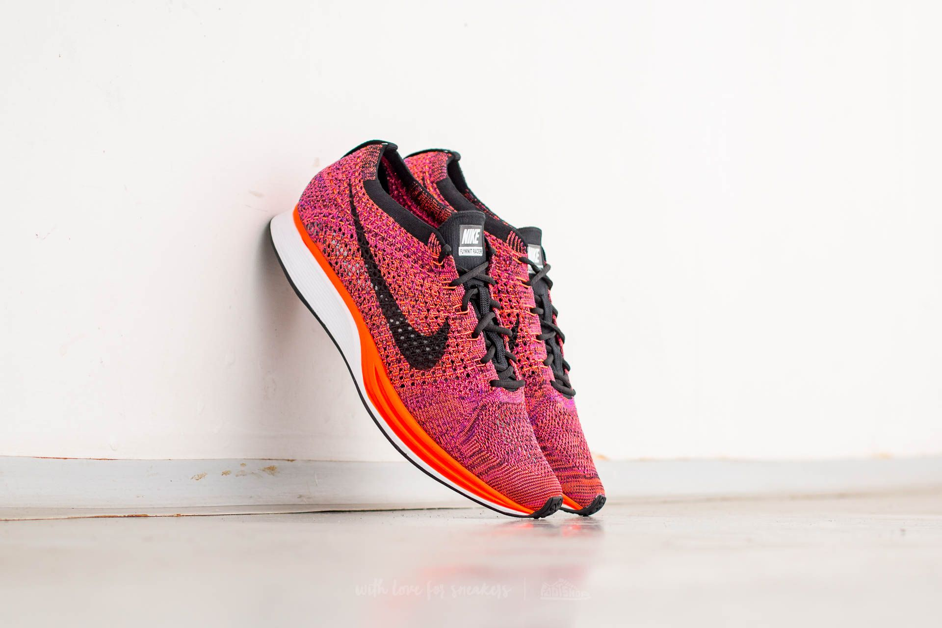 Nike Flyknit Racer Black/ Black-Hyper Orange-Vivid Purple Footshop – FR