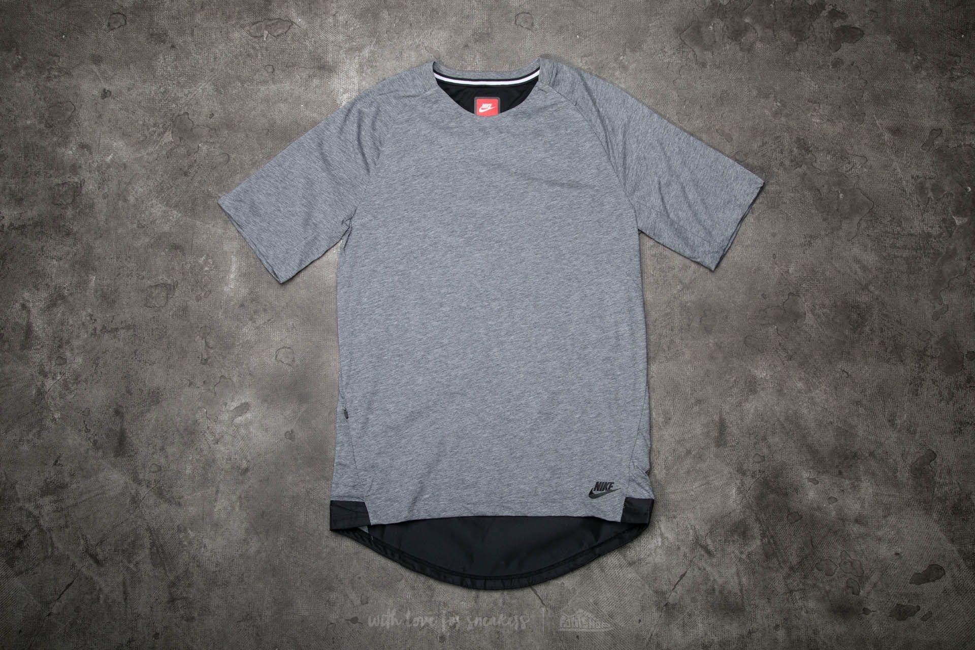 Nike Sportwear Bonded Short Sleeve Top Grey