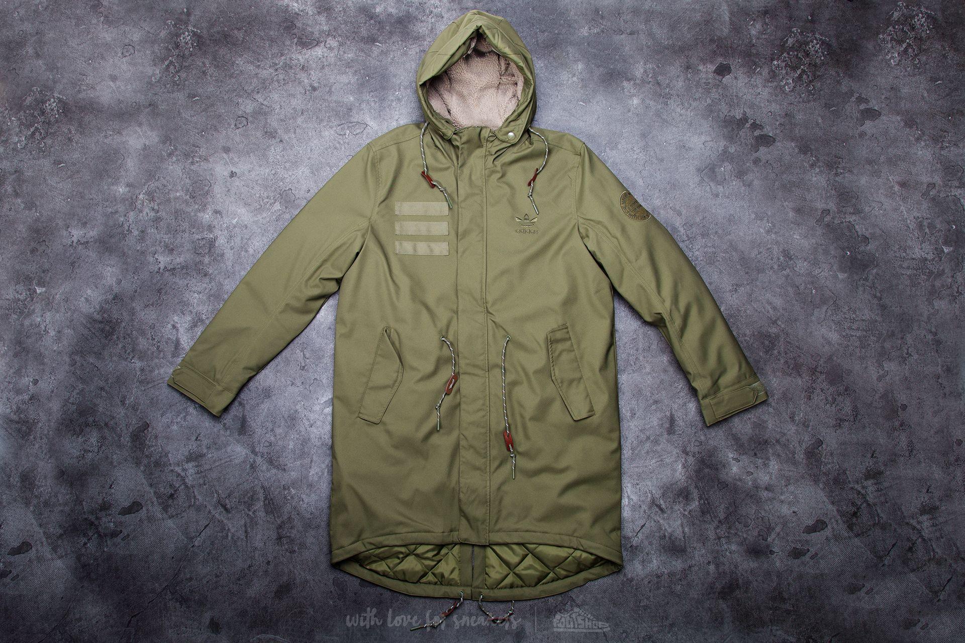 adidas Quilt Fur Parka Olive Cargo