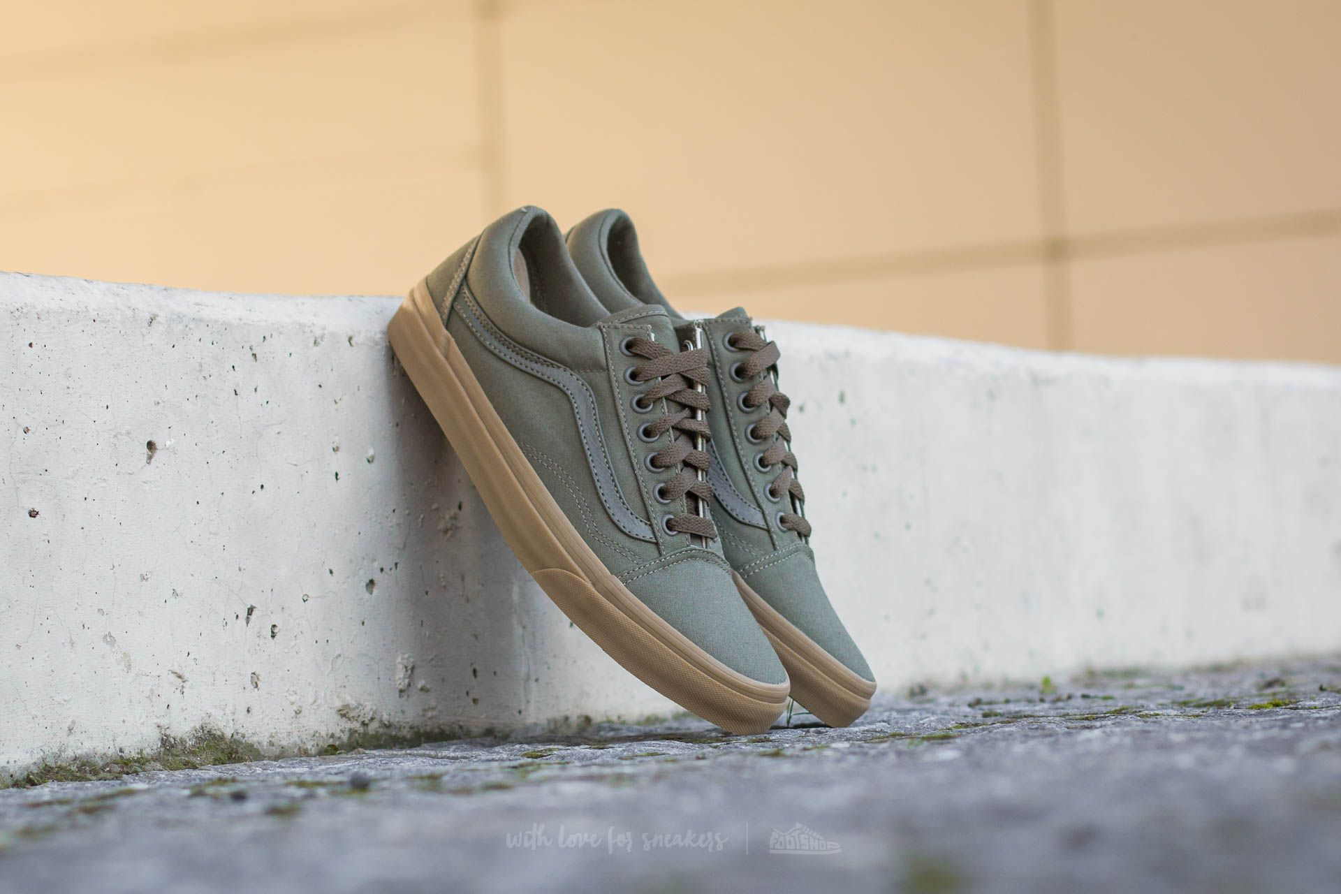 Vans Old Skool (Canvas Gum) Ivy Green/ Light Gum