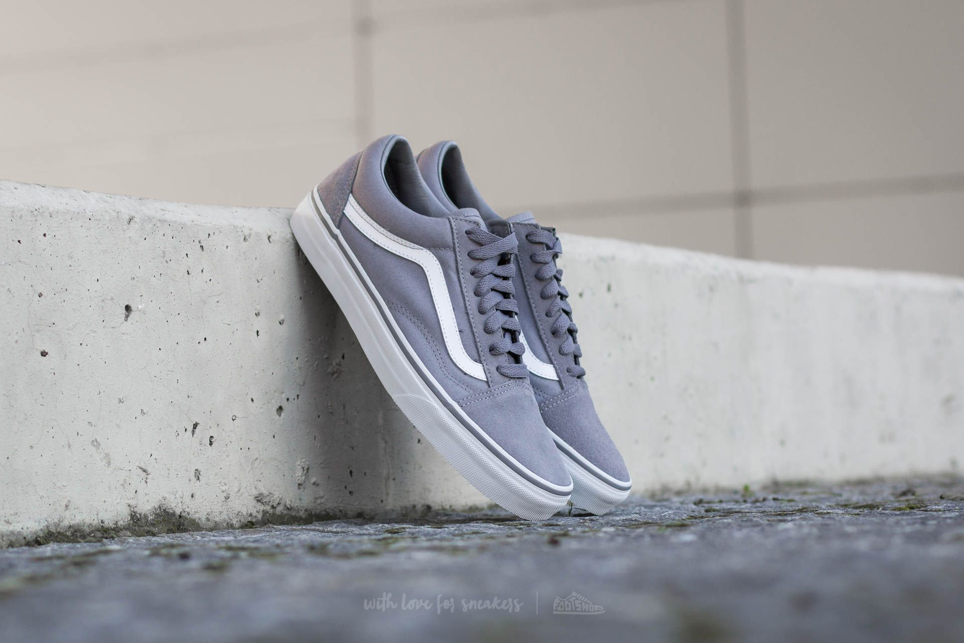Vans Old Skool (Suede/ Canvas) Frost Gray/ True White Footshop – FR