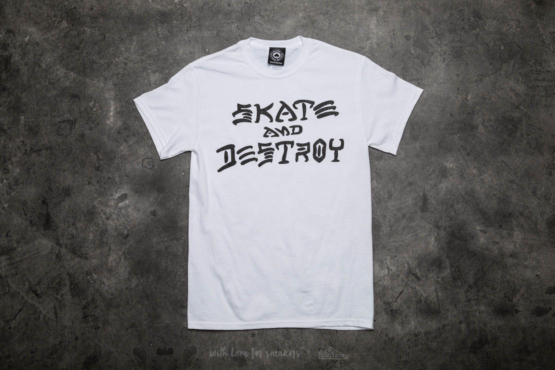 Thrasher Skate And Destroy T-Shirt White Footshop – FR