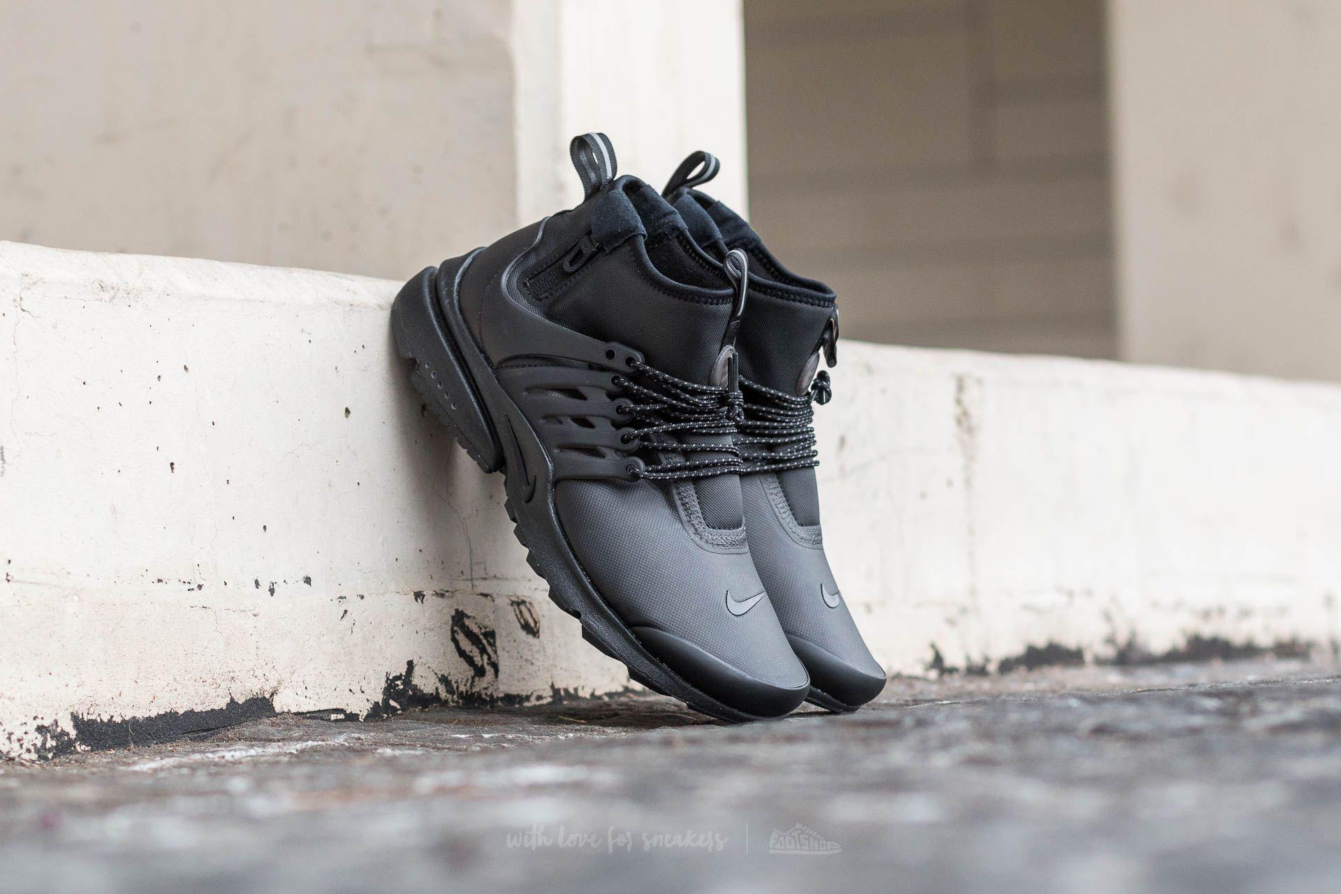Nike Air Presto MID Utility Black/ Black-Volt-Dark Grey