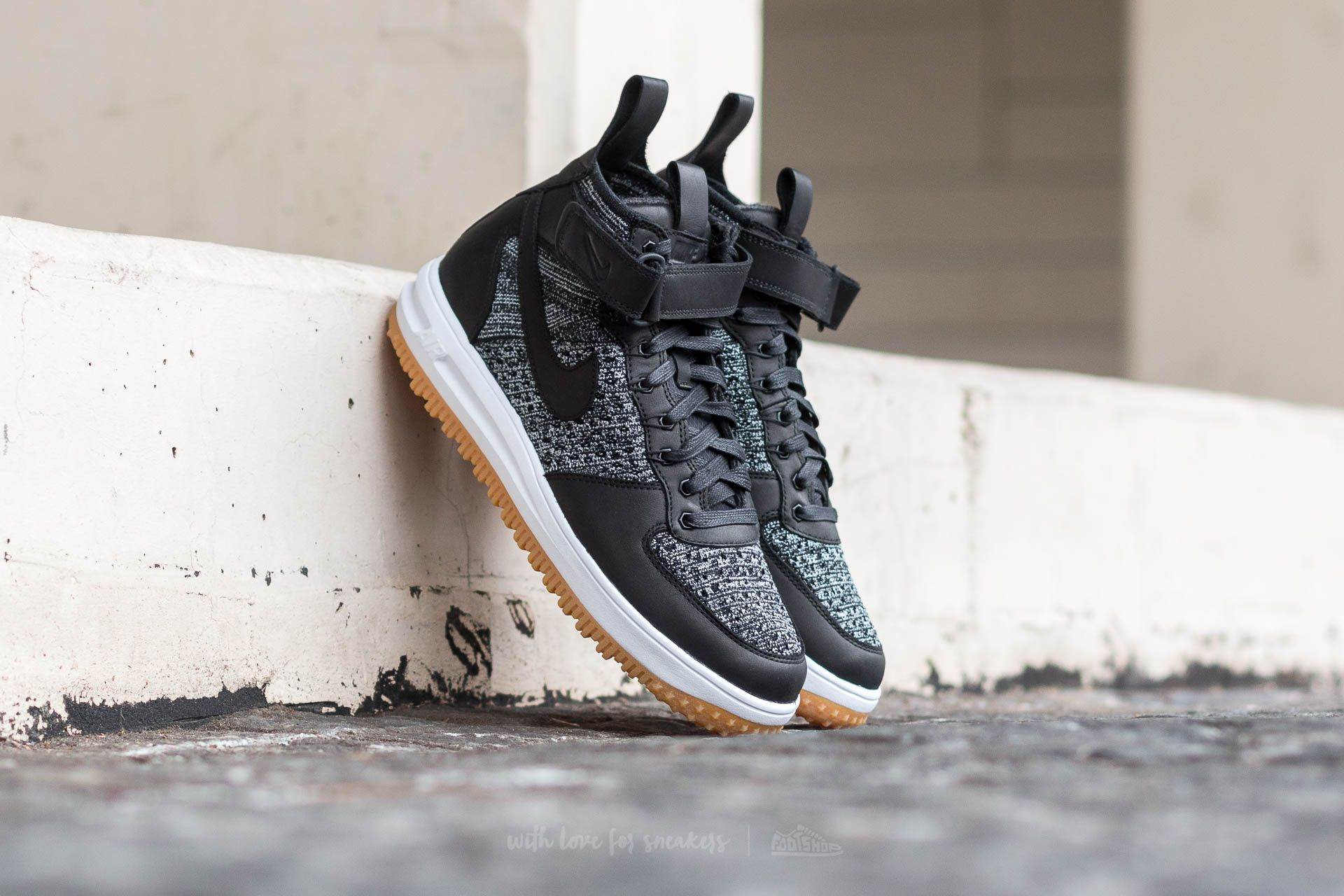 Nike Lunar Force 1 Flyknit Workboot Black/ White-Wolf Grey Footshop – FR
