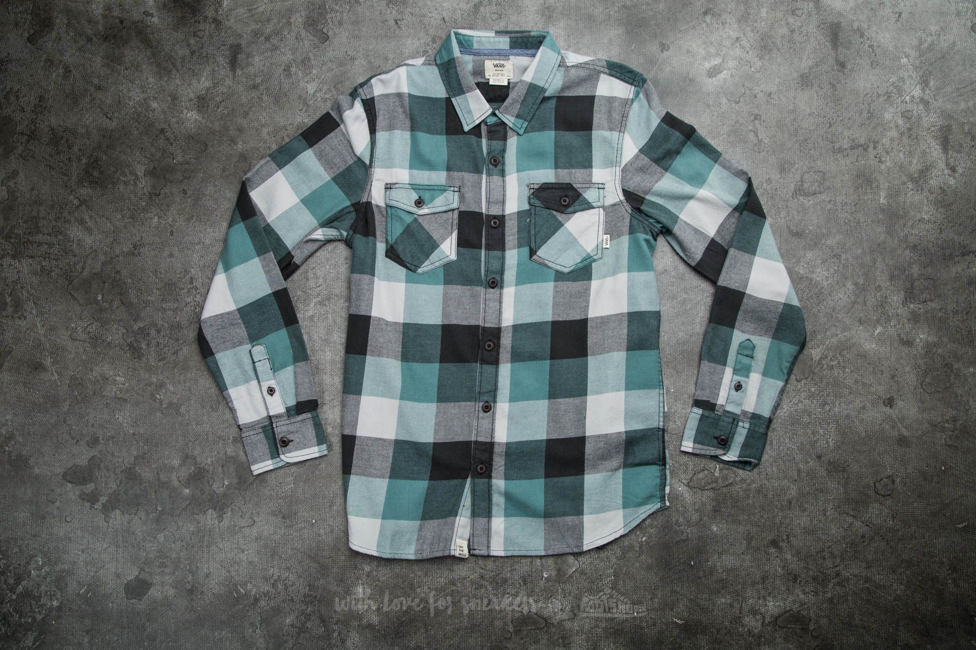 Vans Box Flannel New Charcoal/ North Atlantic