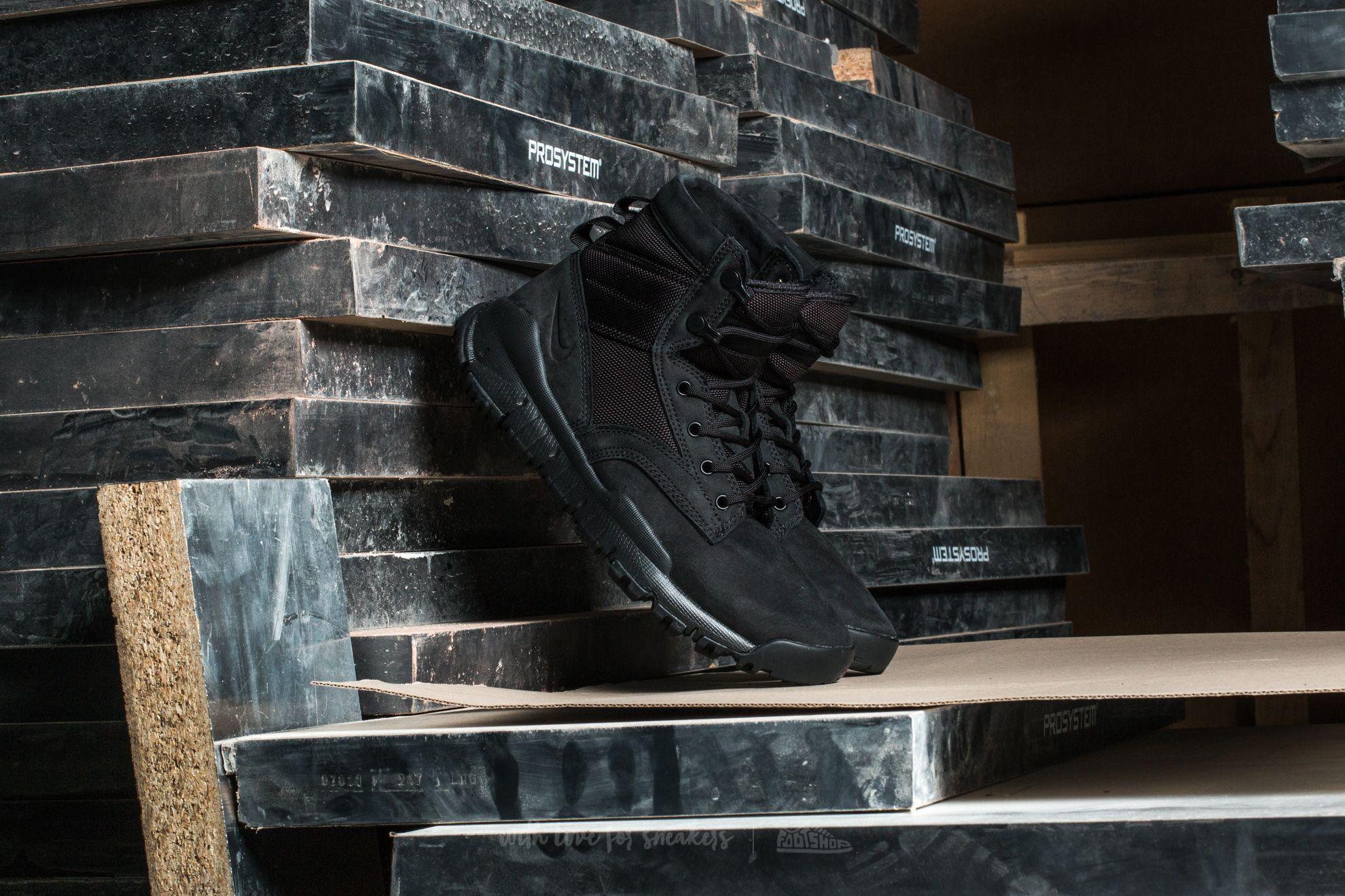 "Nike Wmns SFB 6"" NSW Leather Black/ Black-Black"