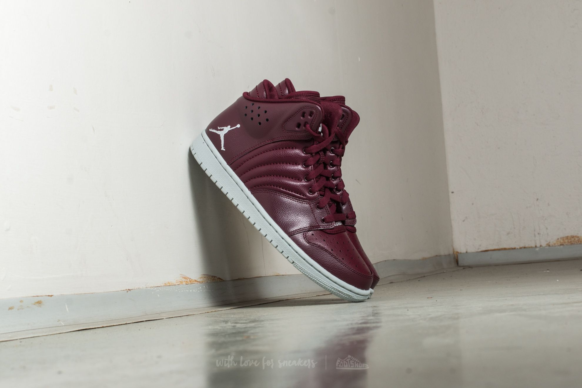 Jordan 1 Flight 4 Night Maroon/ Pure Platinum