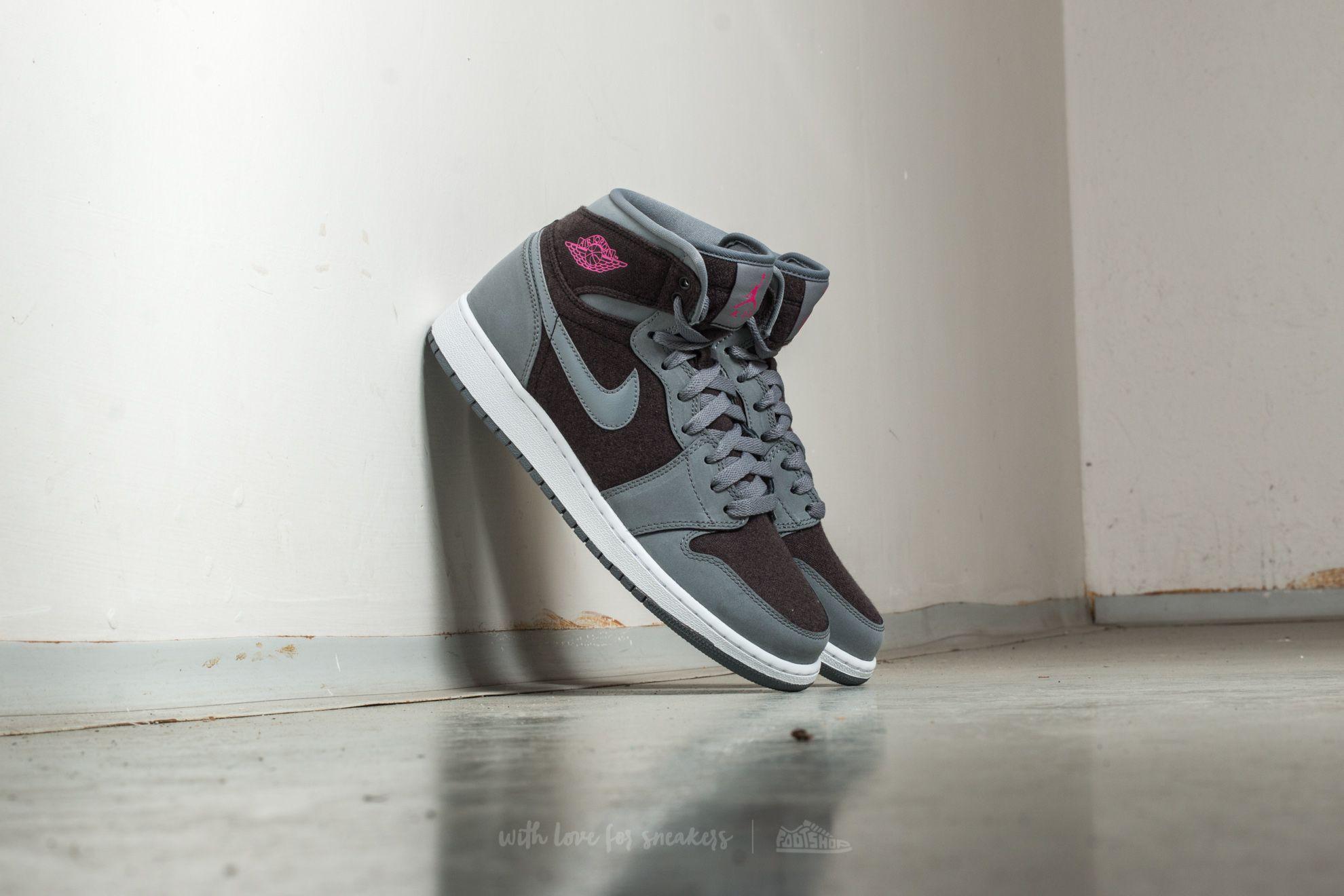 Air Jordan 1 Retro High (GG) Cool Grey/ Vivid Pink-Black