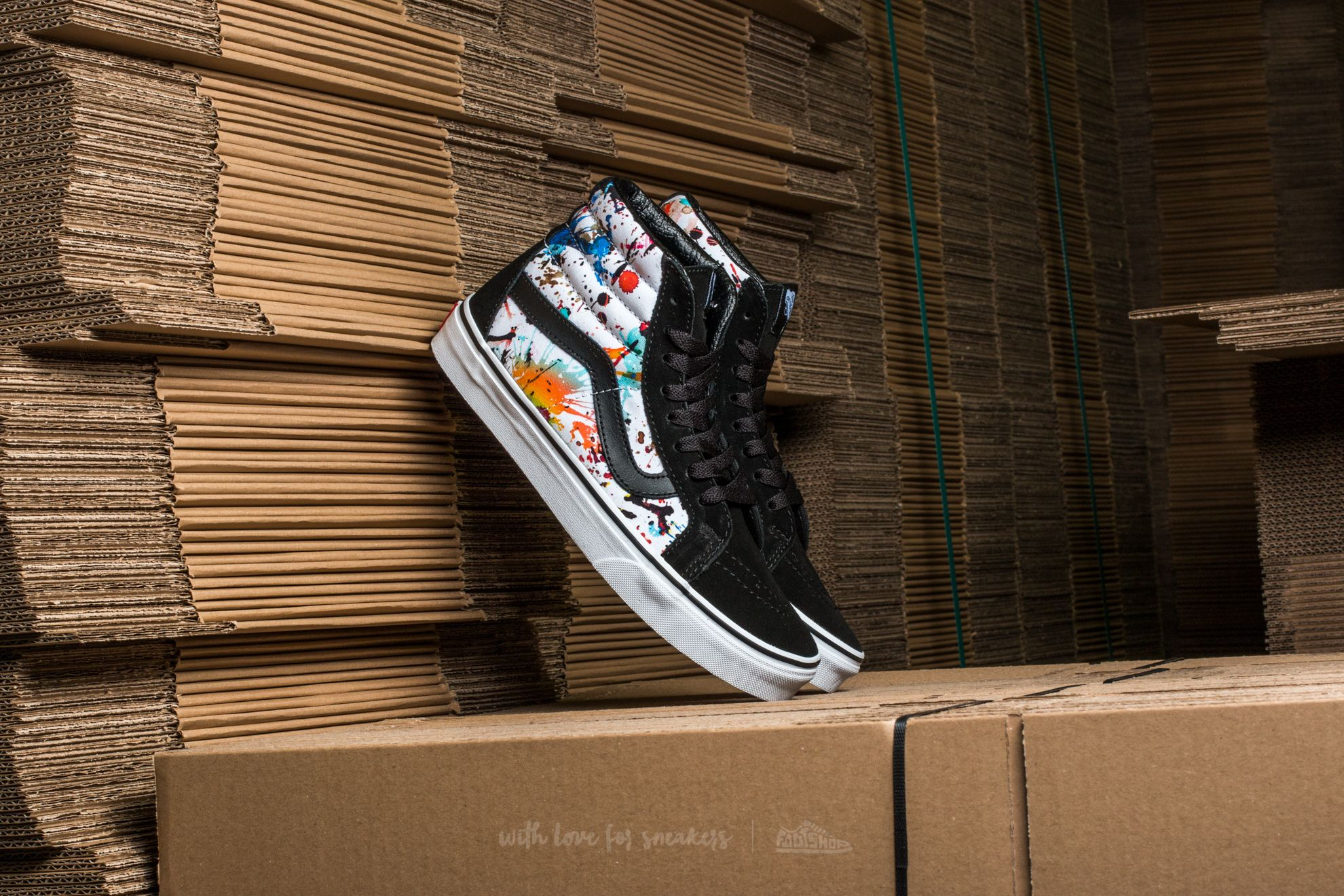 Vans SK8-Hi Reissue (Paint Splatter) Multicolor/ True White Footshop – FR