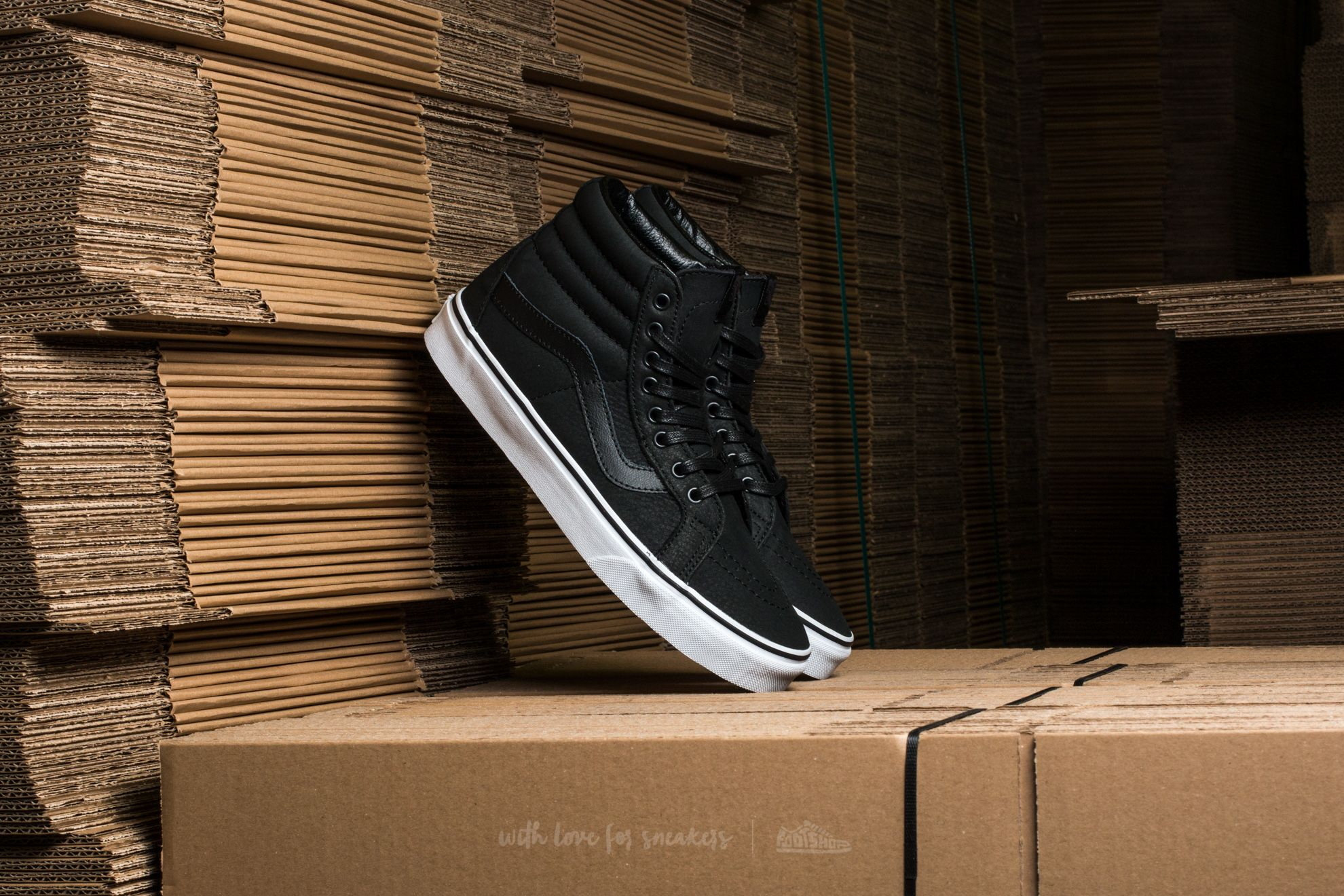 Vans Sk8-Hi Reissue (Premium Leather) Black/ True White Footshop – FR