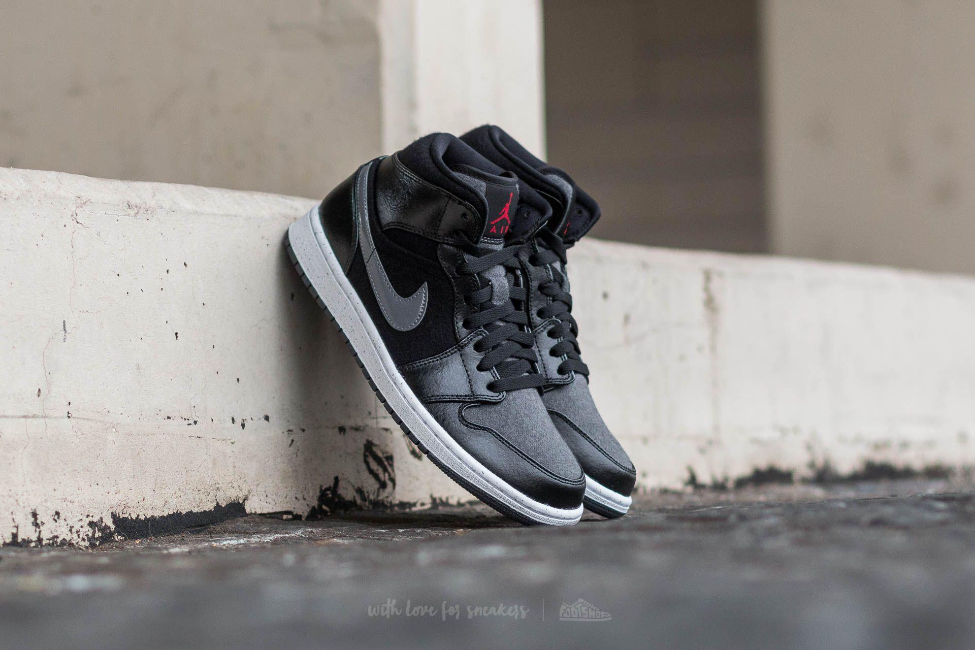 Air Jordan 1 Mid Premium Black/ Gym-Red-Dark Grey-White Footshop – FR