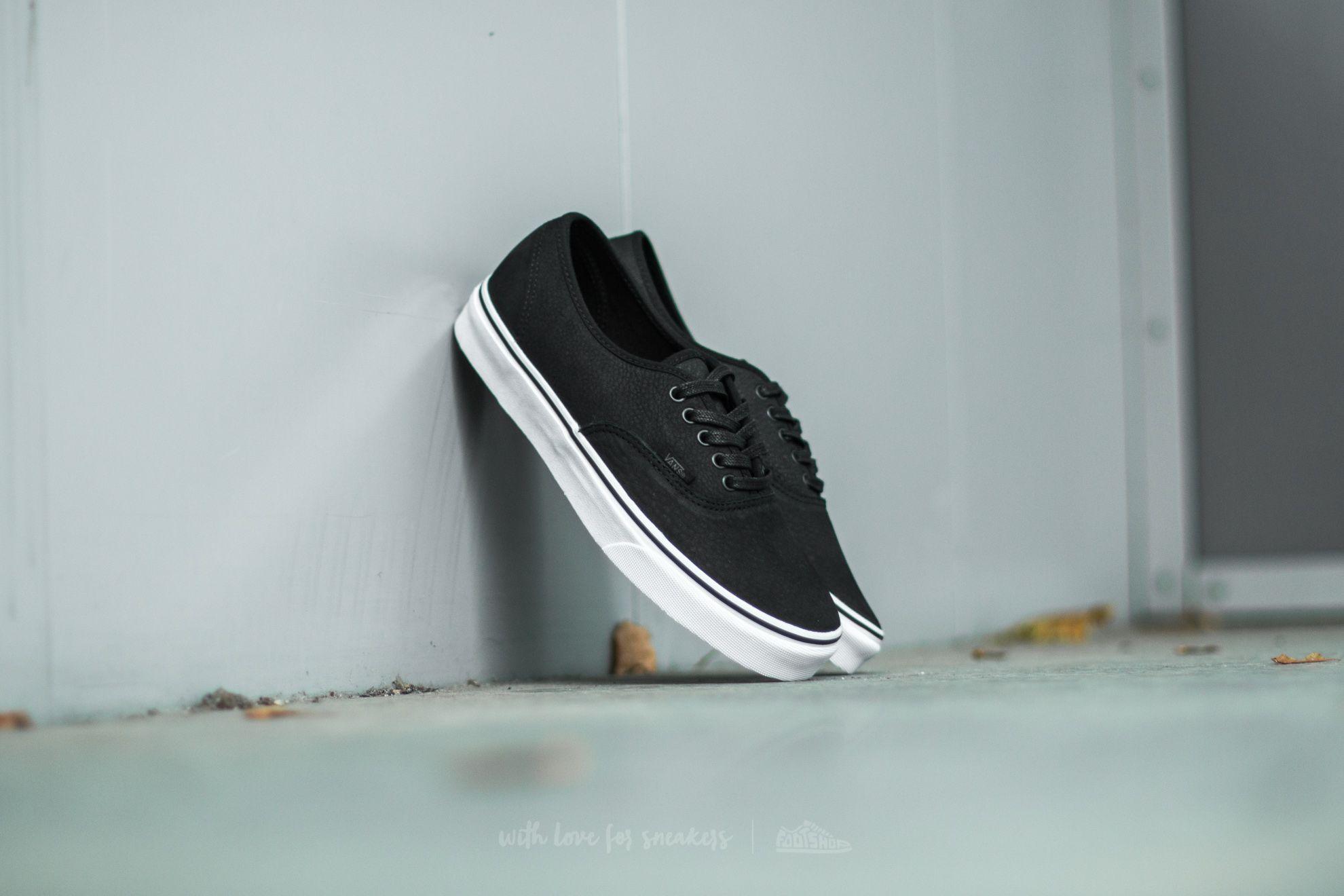 Vans Authentic (Premium Leather) Black/ True White